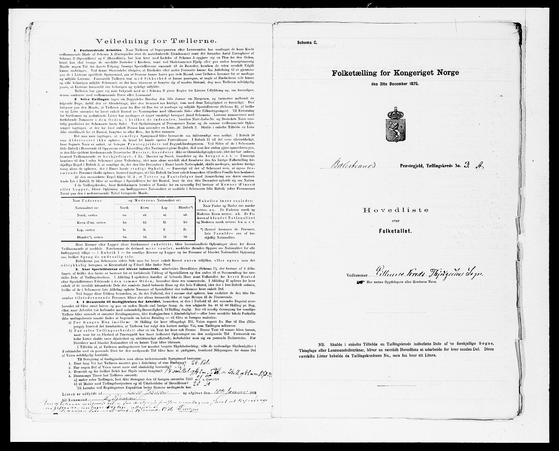 SAB, Folketelling 1875 for 1418P Balestrand prestegjeld, 1875, s. 8