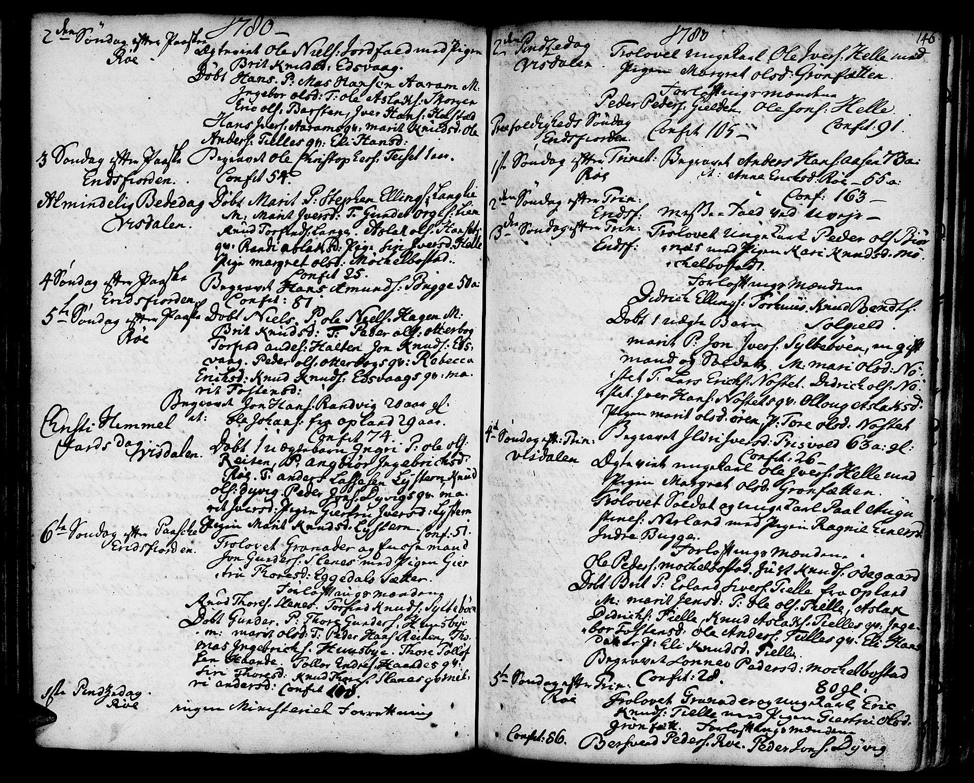 SAT, Ministerialprotokoller, klokkerbøker og fødselsregistre - Møre og Romsdal, 551/L0621: Ministerialbok nr. 551A01, 1757-1803, s. 146