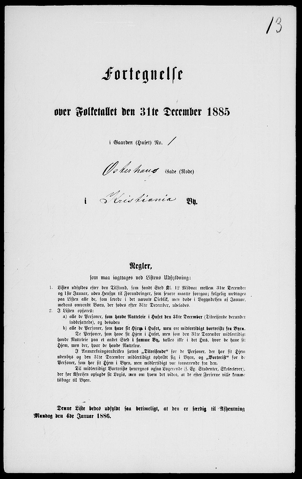 RA, Folketelling 1885 for 0301 Kristiania kjøpstad, 1885, s. 5589