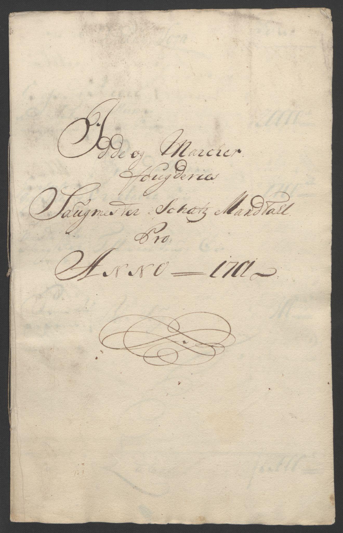 RA, Rentekammeret inntil 1814, Reviderte regnskaper, Fogderegnskap, R01/L0015: Fogderegnskap Idd og Marker, 1700-1701, s. 280
