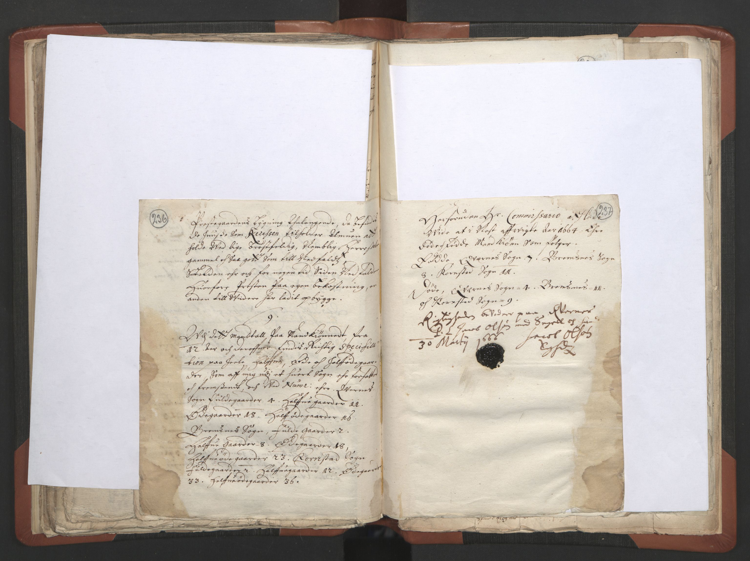 RA, Sogneprestenes manntall 1664-1666, nr. 28: Nordmøre prosti, 1664-1666, s. 236-237