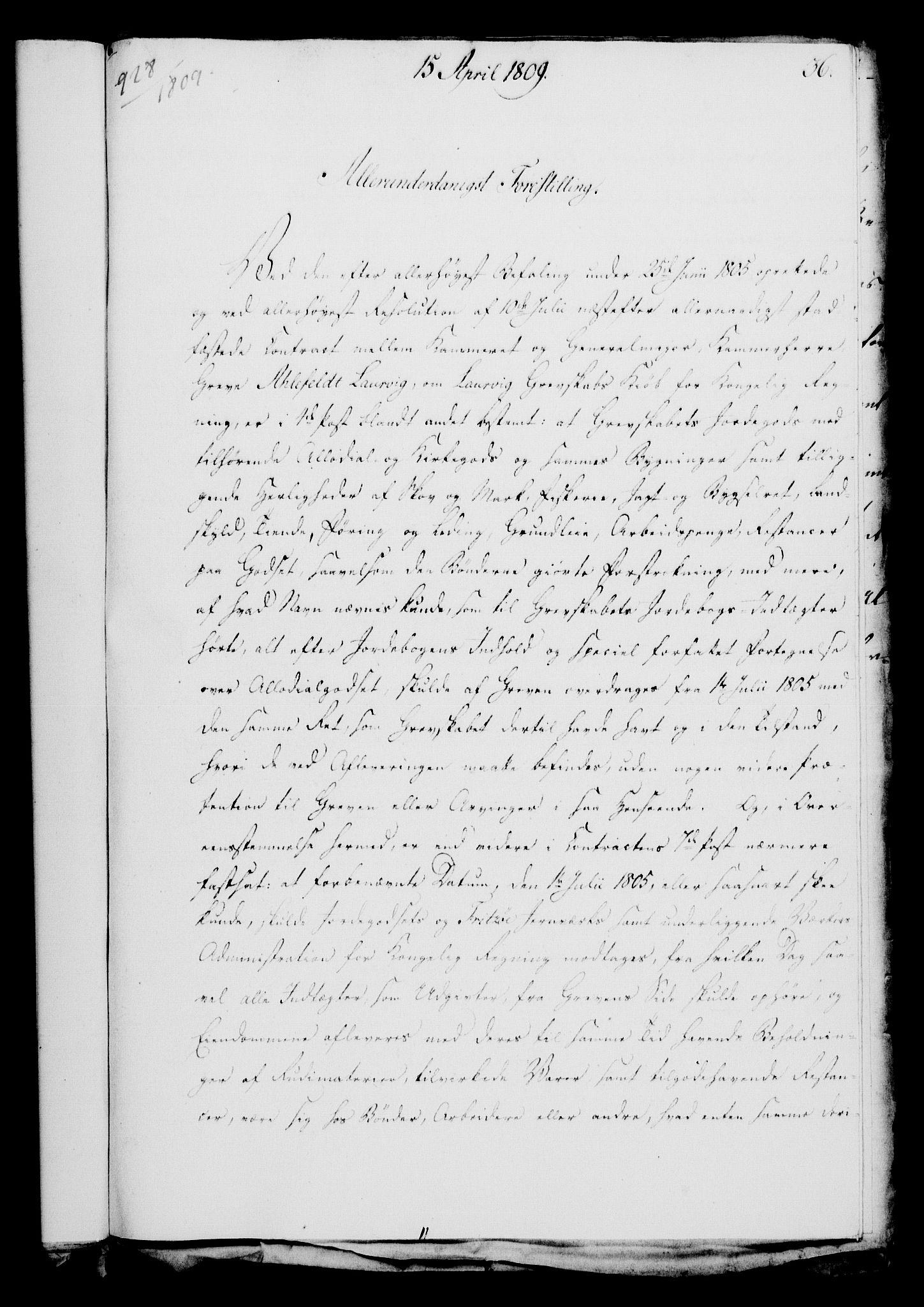 RA, Rentekammeret, Kammerkanselliet, G/Gf/Gfa/L0091: Norsk relasjons- og resolusjonsprotokoll (merket RK 52.91), 1809, s. 170