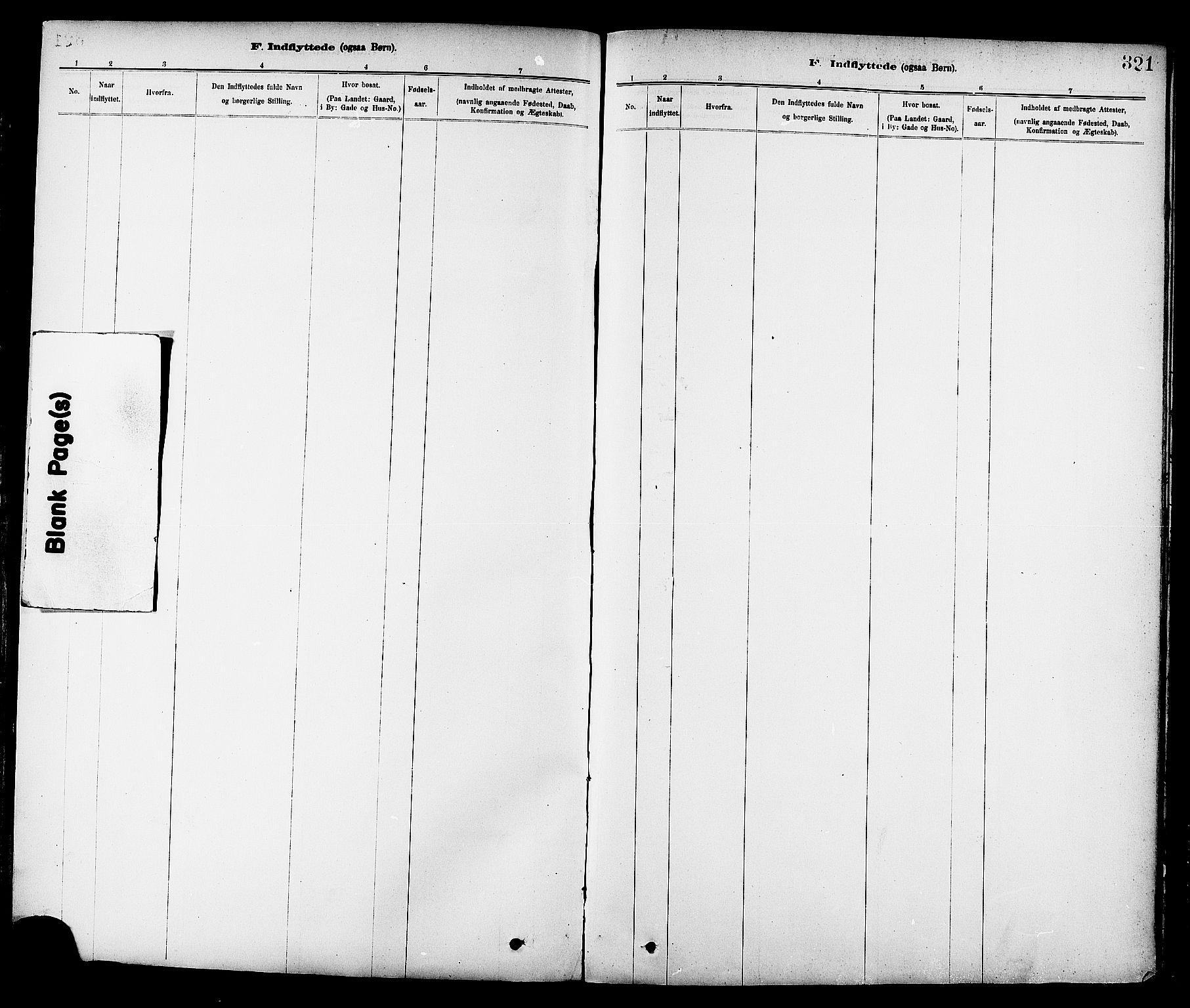 SAT, Ministerialprotokoller, klokkerbøker og fødselsregistre - Sør-Trøndelag, 647/L0634: Ministerialbok nr. 647A01, 1885-1896, s. 321