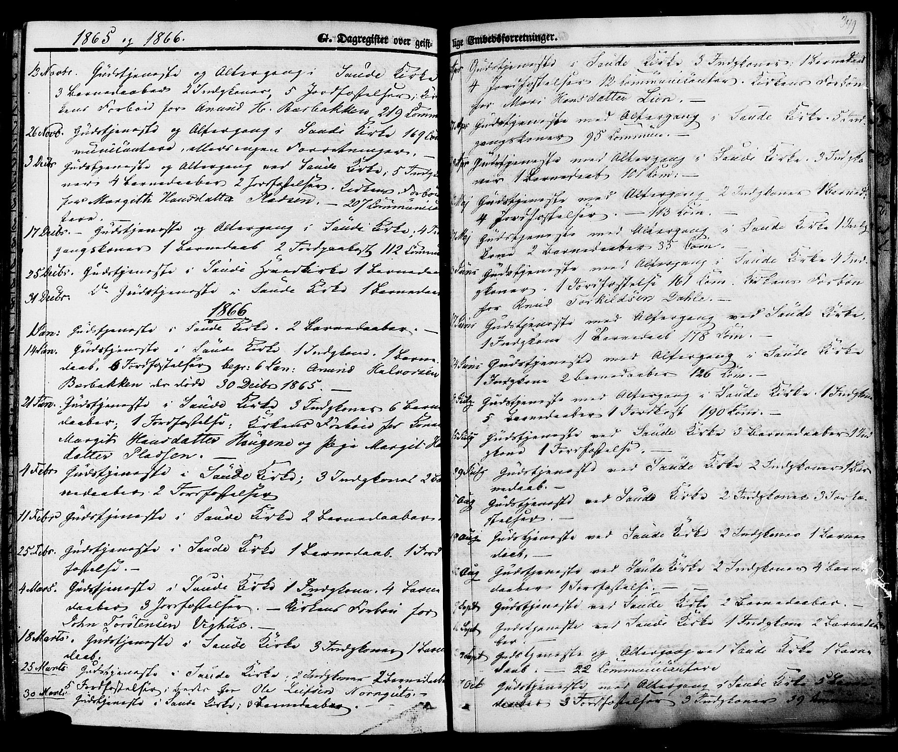 SAKO, Sauherad kirkebøker, F/Fa/L0007: Ministerialbok nr. I 7, 1851-1873, s. 349