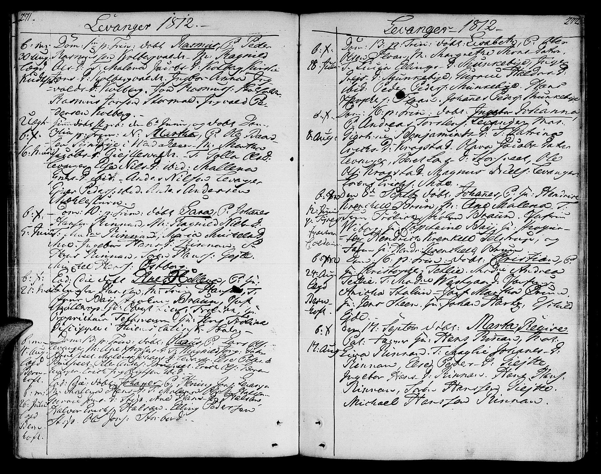 SAT, Ministerialprotokoller, klokkerbøker og fødselsregistre - Nord-Trøndelag, 717/L0145: Ministerialbok nr. 717A03 /3, 1810-1815, s. 271-272