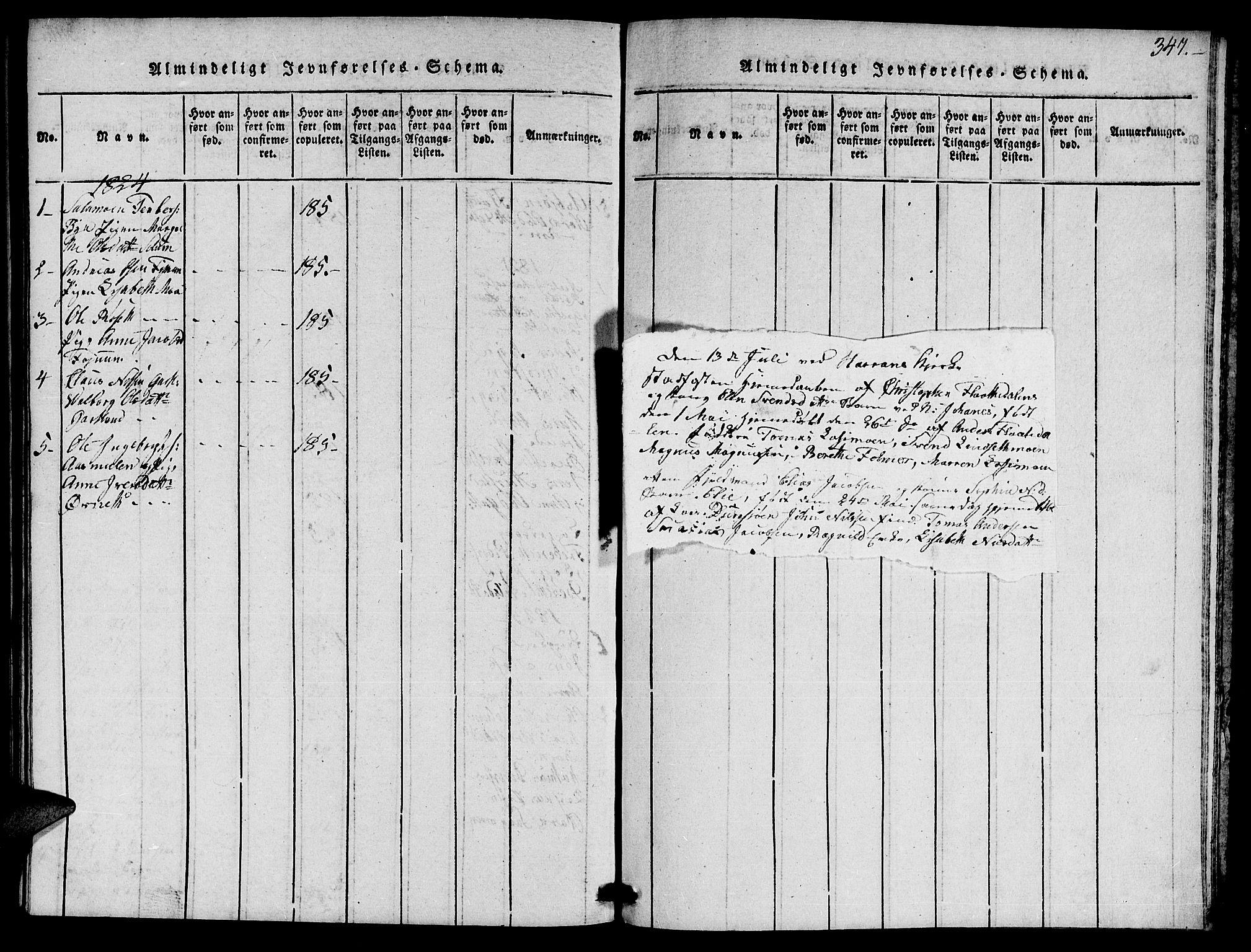 SAT, Ministerialprotokoller, klokkerbøker og fødselsregistre - Nord-Trøndelag, 759/L0527: Klokkerbok nr. 759C01 /1, 1816-1825, s. 347