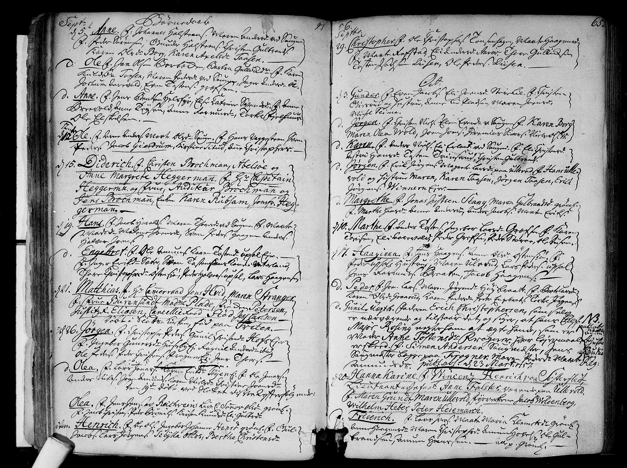 SAO, Aker prestekontor kirkebøker, F/L0008: Ministerialbok nr. 8, 1749-1765, s. 65