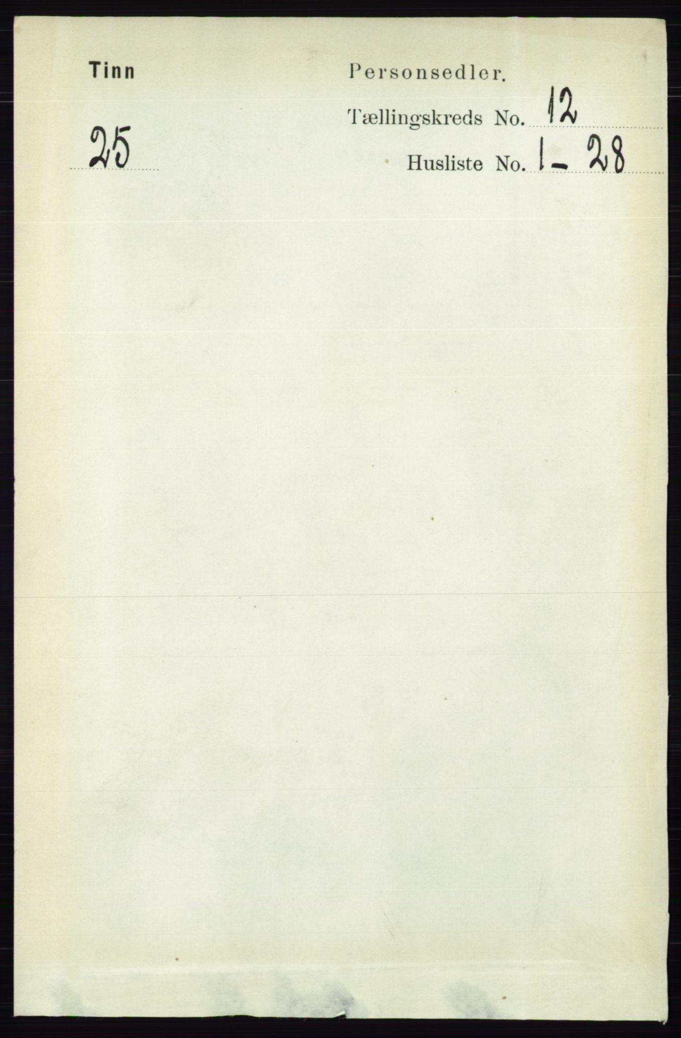 RA, Folketelling 1891 for 0826 Tinn herred, 1891, s. 2317