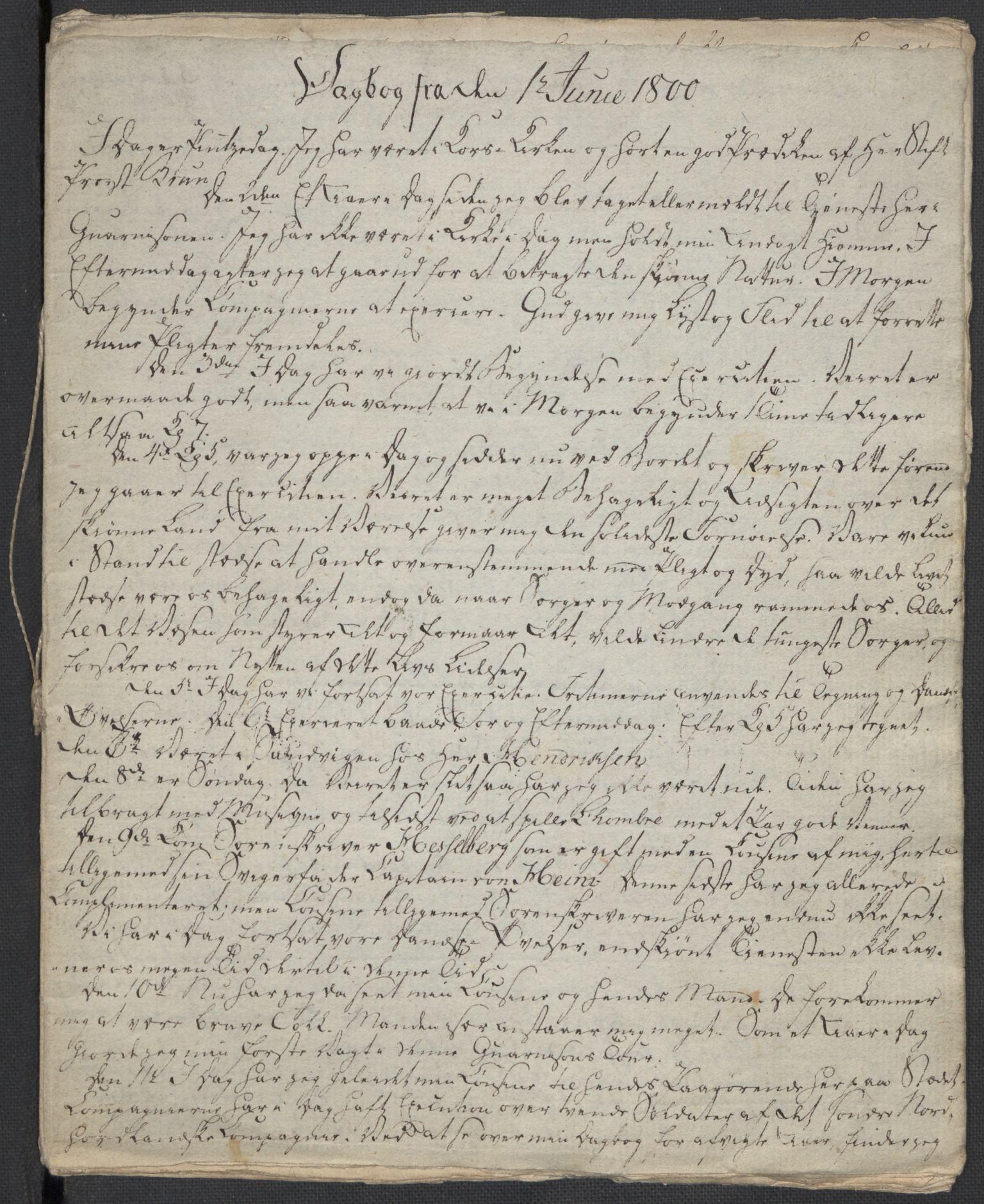 RA, Holck, Meidell, Hartvig, F/L0001: (Kassett) Dagbøker ført av Ole Elias v.Holck, 1798-1842, s. 64