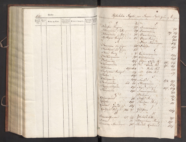 RA, Kommersekollegiet, Brannforsikringskontoret 1767-1814, F/Fa/L0007: Bergen, 1807-1817