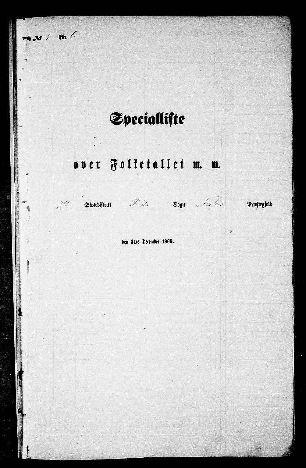 RA, Folketelling 1865 for 1543P Nesset prestegjeld, 1865, s. 45