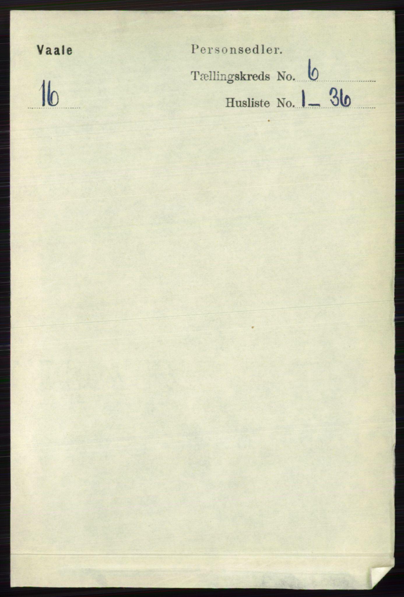 RA, Folketelling 1891 for 0716 Våle herred, 1891, s. 1779