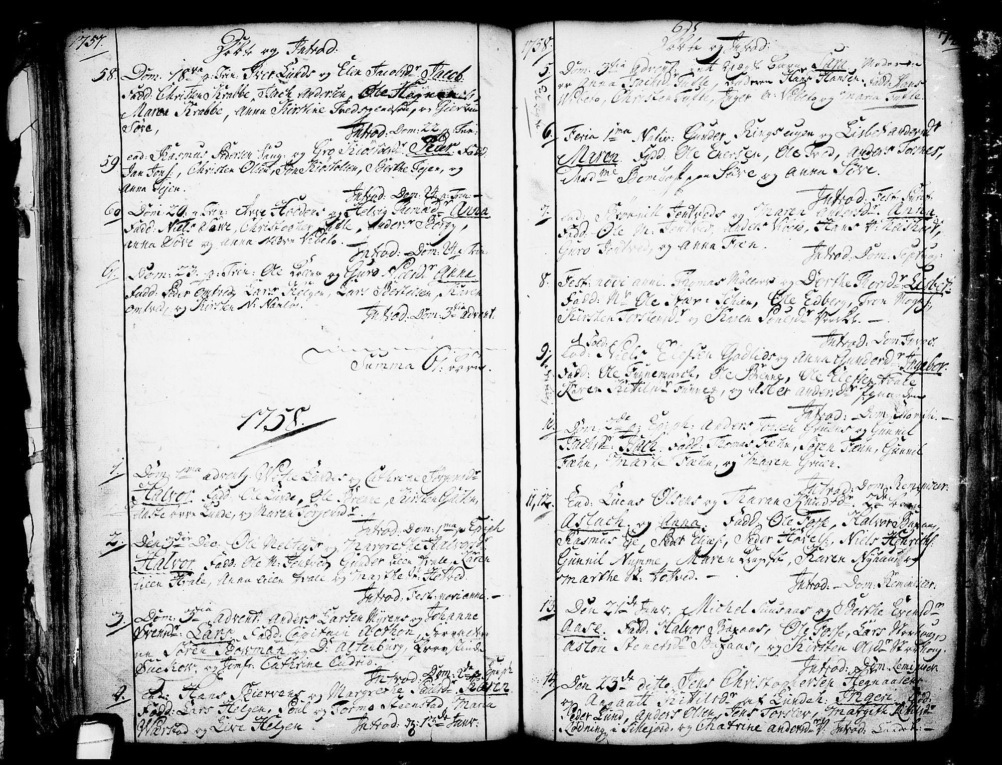 SAKO, Holla kirkebøker, F/Fa/L0001: Ministerialbok nr. 1, 1717-1779, s. 74