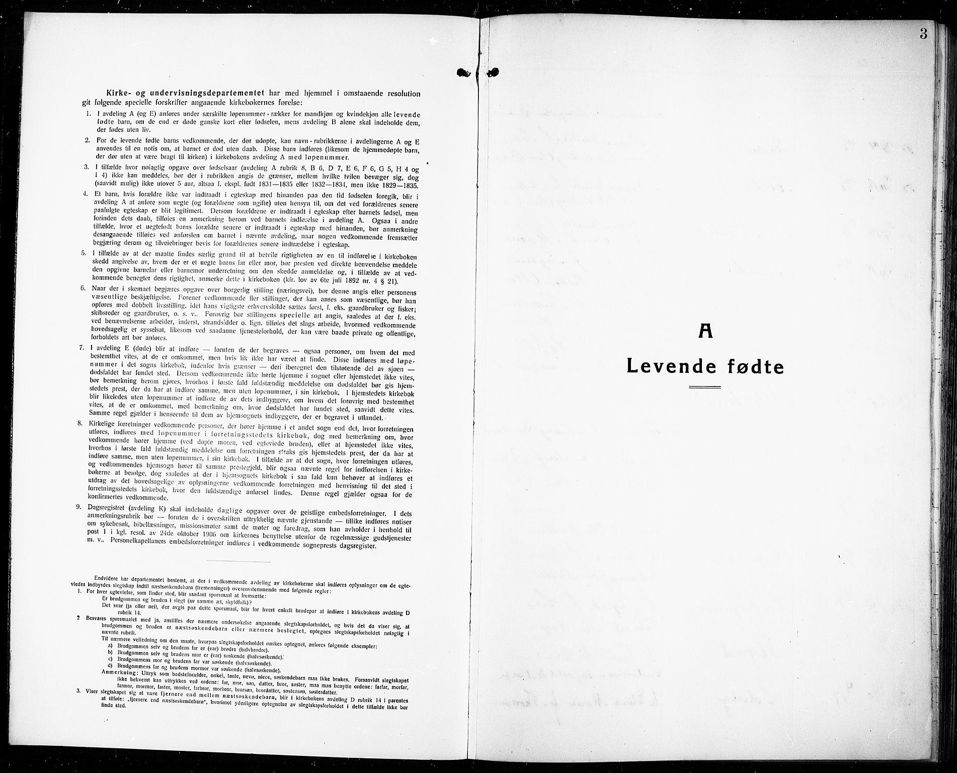 SAKO, Rjukan kirkebøker, G/Ga/L0003: Klokkerbok nr. 3, 1920-1928, s. 3