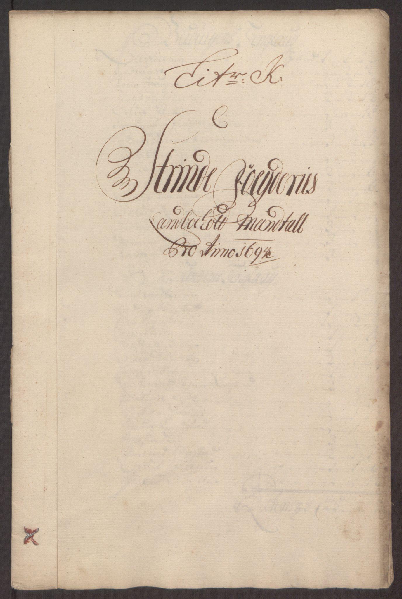 RA, Rentekammeret inntil 1814, Reviderte regnskaper, Fogderegnskap, R61/L4104: Fogderegnskap Strinda og Selbu, 1693-1694, s. 268
