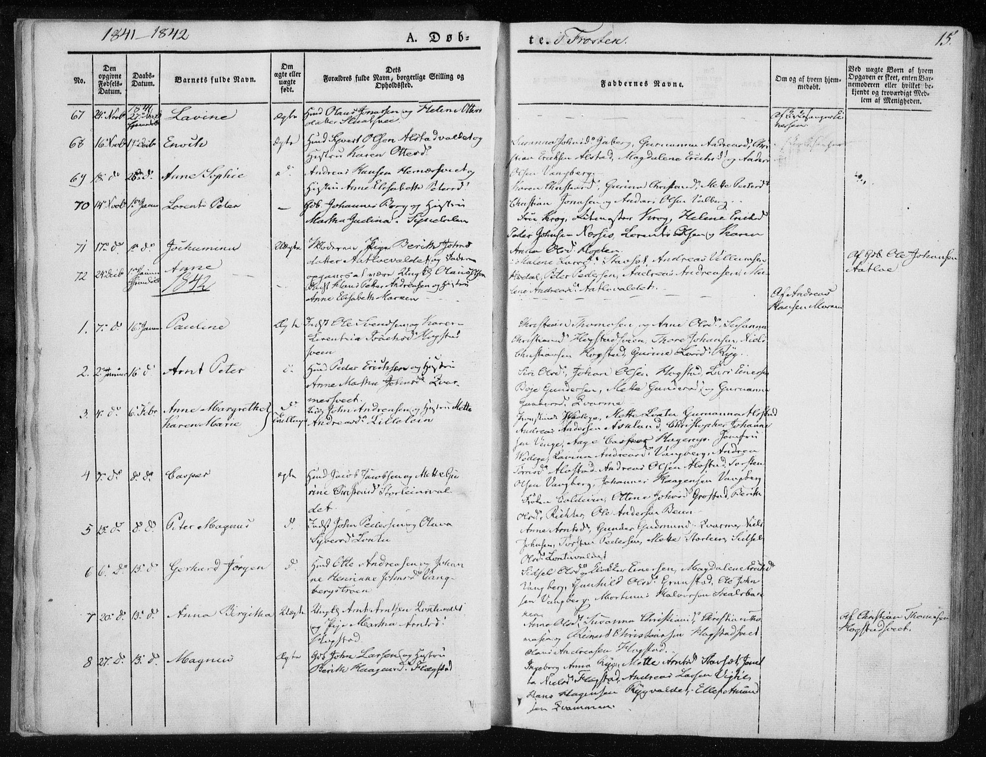 SAT, Ministerialprotokoller, klokkerbøker og fødselsregistre - Nord-Trøndelag, 713/L0115: Ministerialbok nr. 713A06, 1838-1851, s. 15