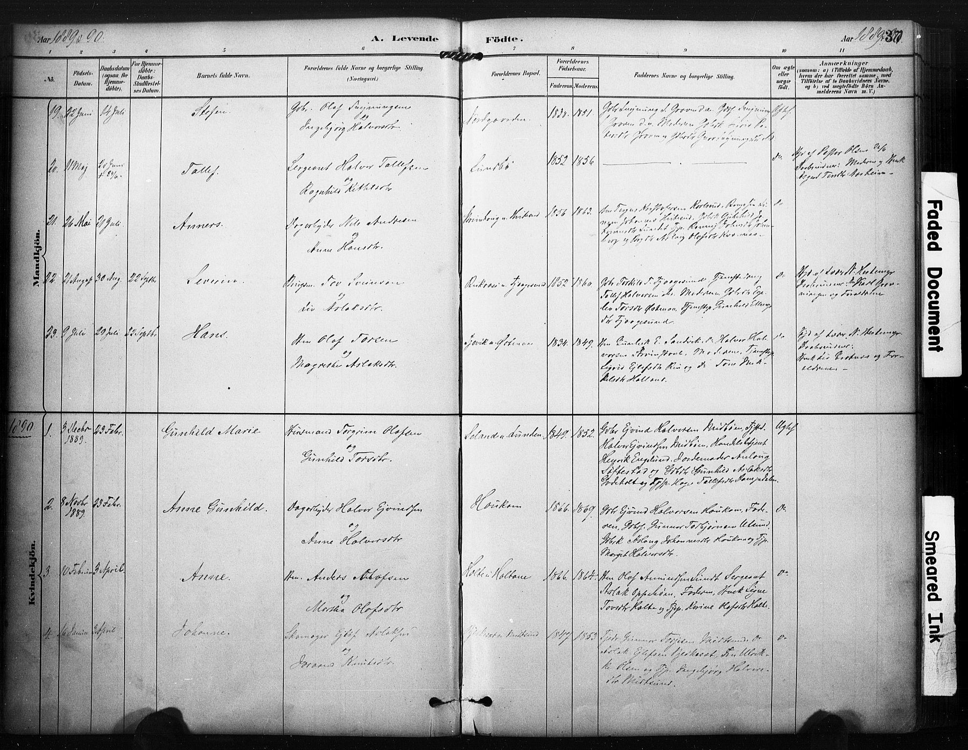 SAKO, Kviteseid kirkebøker, F/Fa/L0008: Ministerialbok nr. I 8, 1882-1903, s. 37