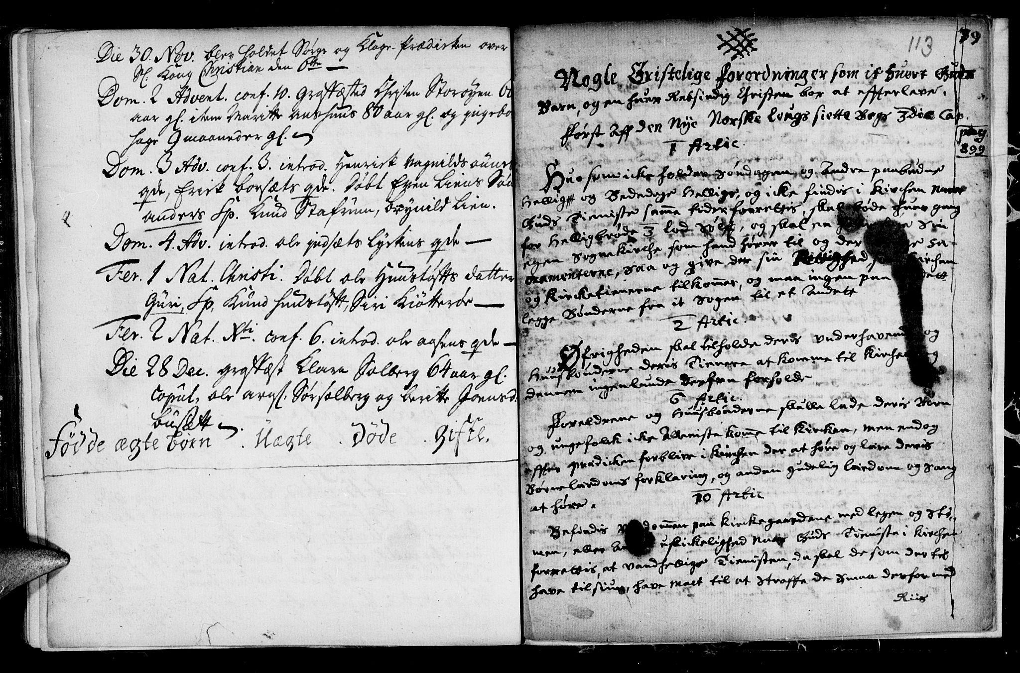 SAT, Ministerialprotokoller, klokkerbøker og fødselsregistre - Sør-Trøndelag, 689/L1036: Ministerialbok nr. 689A01, 1696-1746, s. 113