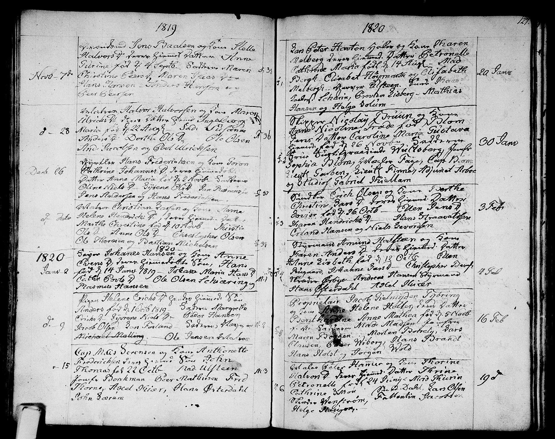 SAKO, Strømsø kirkebøker, F/Fa/L0010: Ministerialbok nr. I 10, 1792-1822, s. 127