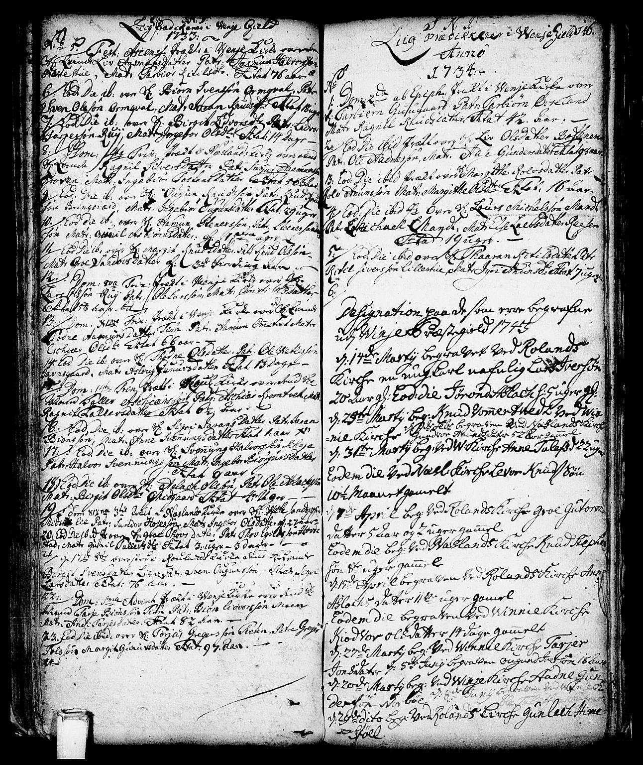 SAKO, Vinje kirkebøker, F/Fa/L0001: Ministerialbok nr. I 1, 1717-1766, s. 146