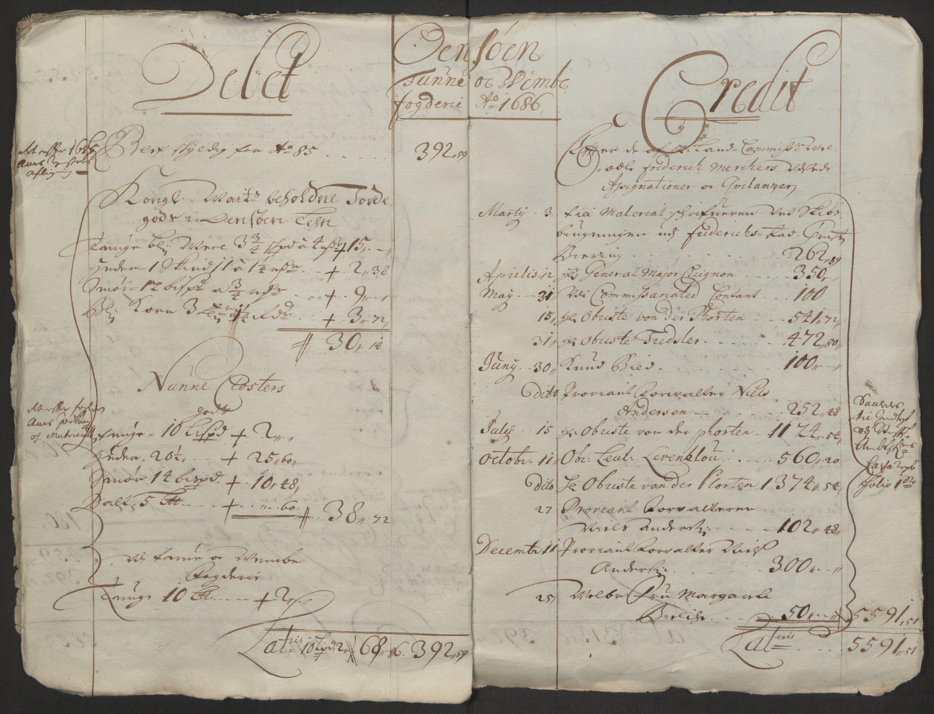 RA, Rentekammeret inntil 1814, Reviderte regnskaper, Fogderegnskap, R03/L0118: Fogderegnskap Onsøy, Tune, Veme og Åbygge fogderi, 1684-1689, s. 76