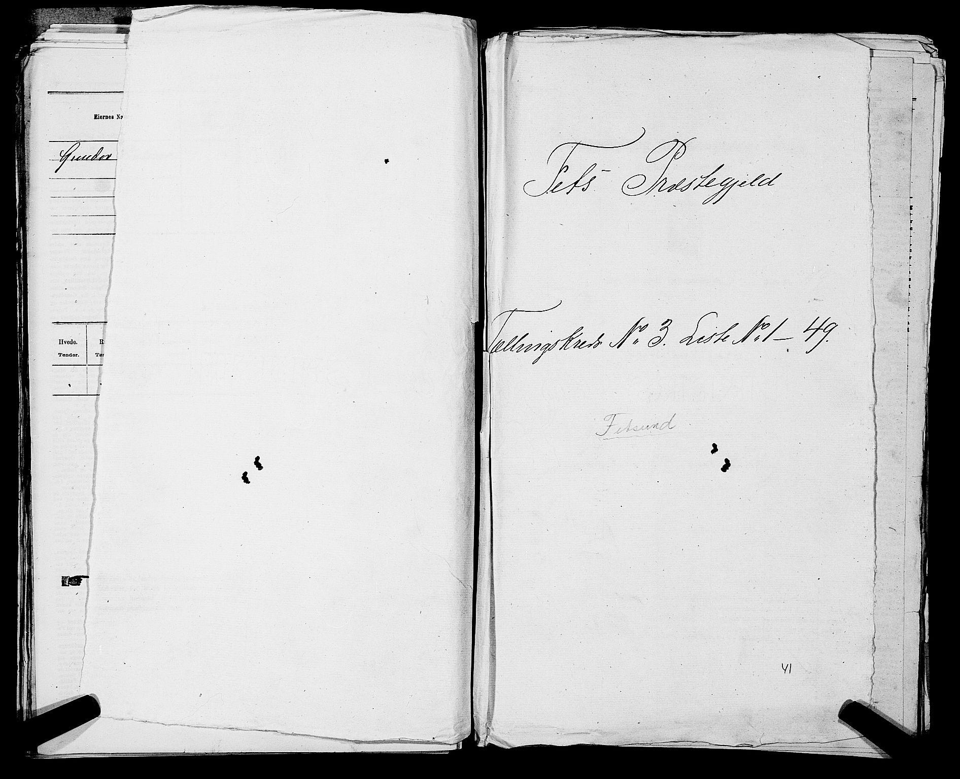 RA, Folketelling 1875 for 0227P Fet prestegjeld, 1875, s. 330