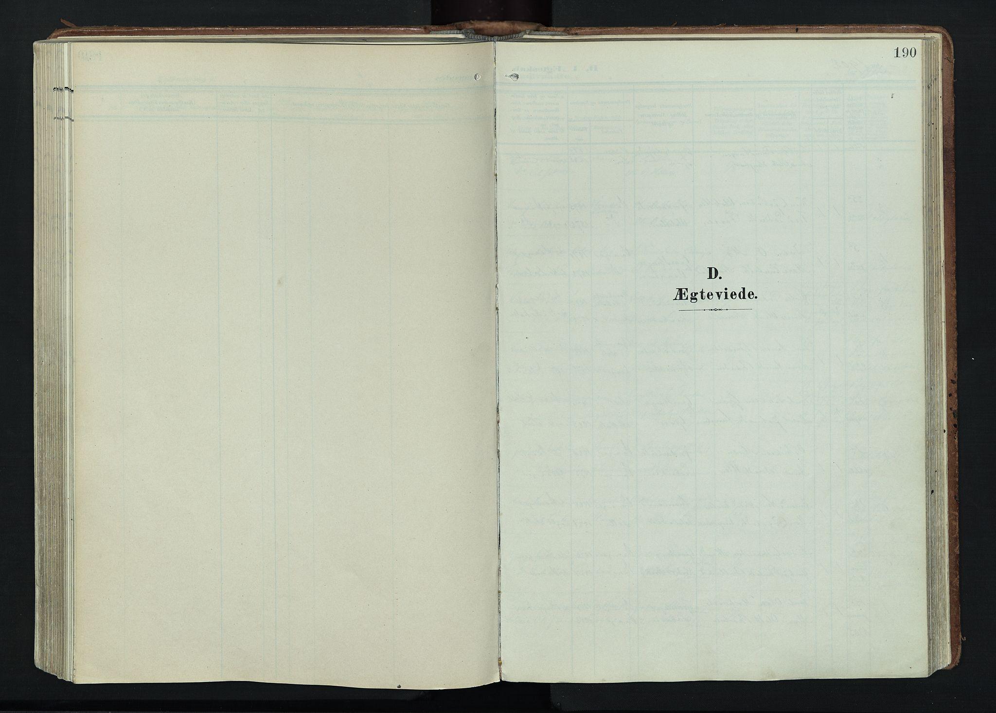 SAH, Vågå prestekontor, Ministerialbok nr. 11, 1905-1924, s. 190