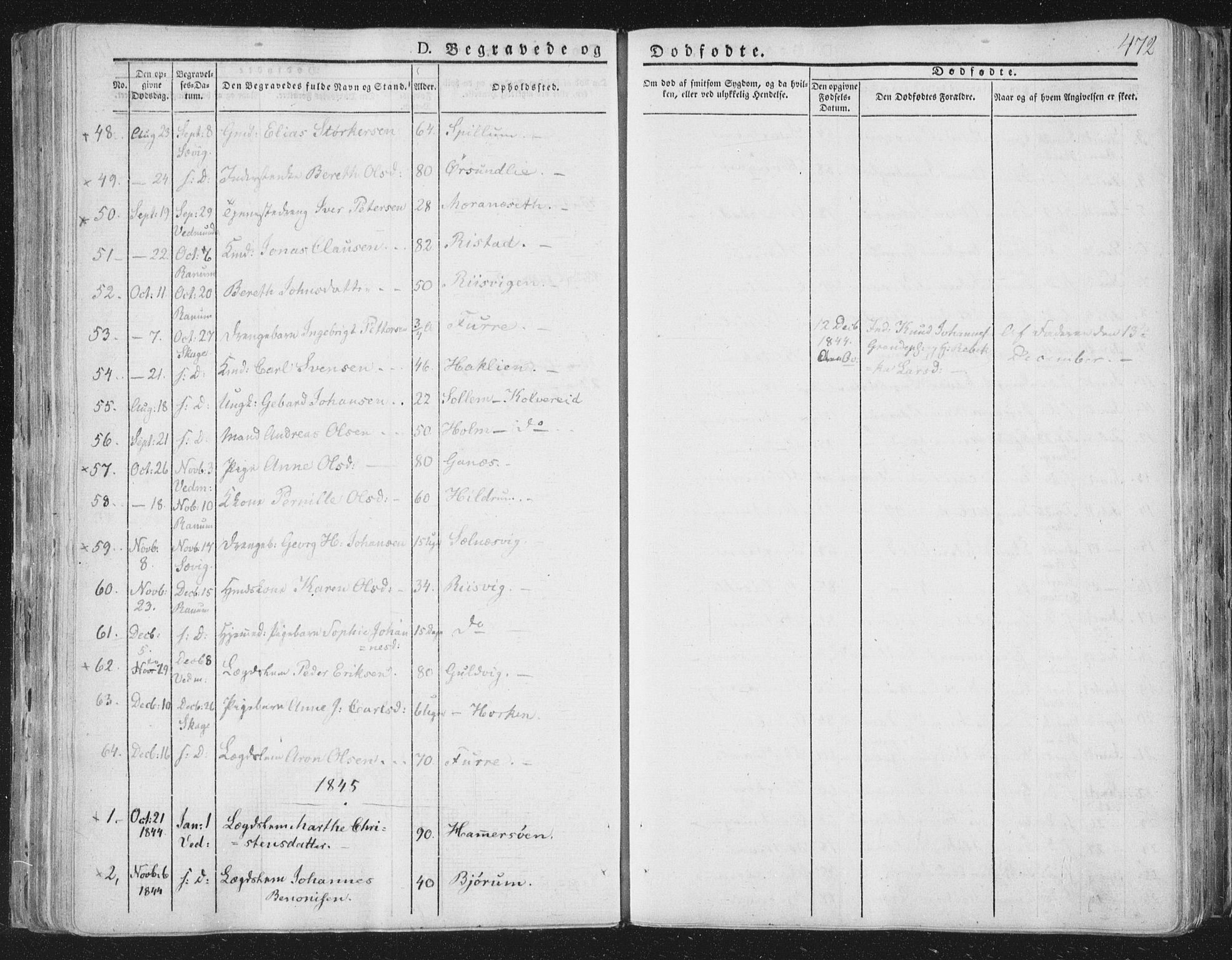 SAT, Ministerialprotokoller, klokkerbøker og fødselsregistre - Nord-Trøndelag, 764/L0552: Ministerialbok nr. 764A07b, 1824-1865, s. 472