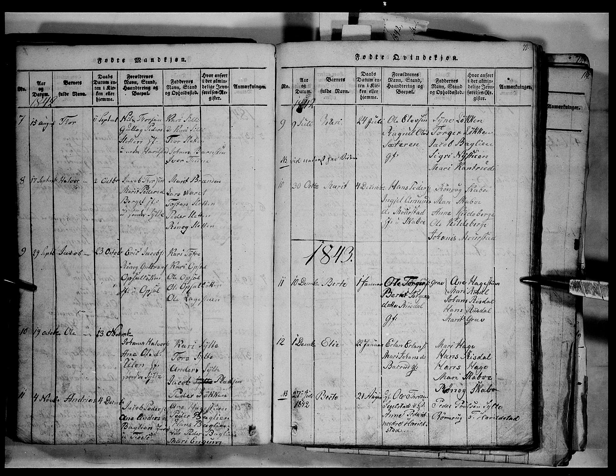 SAH, Fron prestekontor, H/Ha/Hab/L0003: Klokkerbok nr. 3, 1816-1850, s. 71