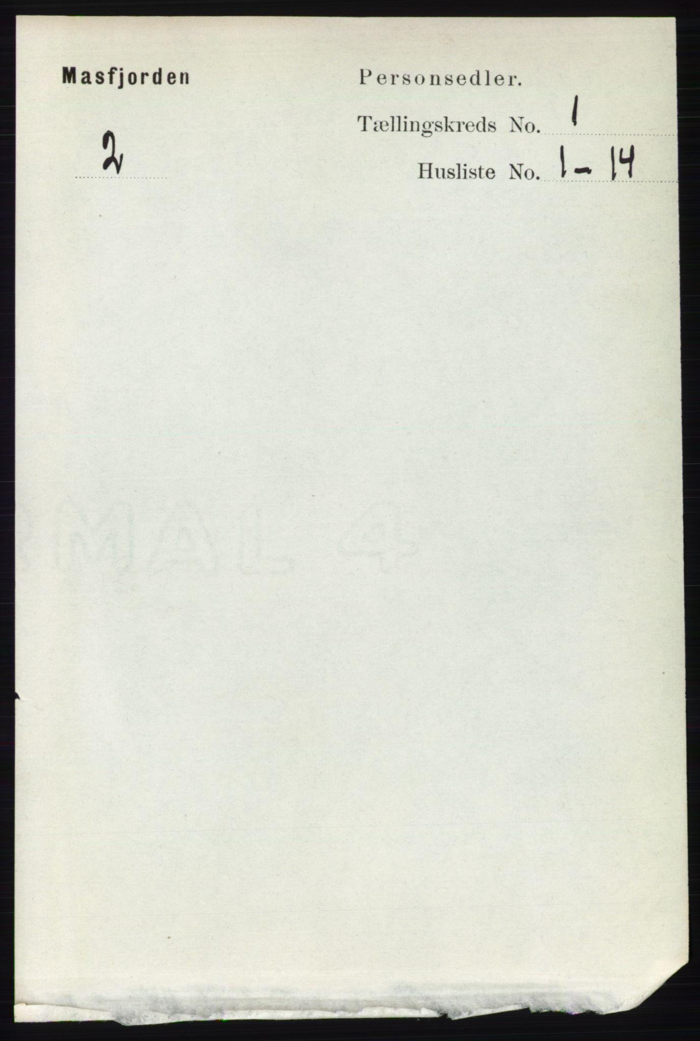 RA, Folketelling 1891 for 1266 Masfjorden herred, 1891, s. 48