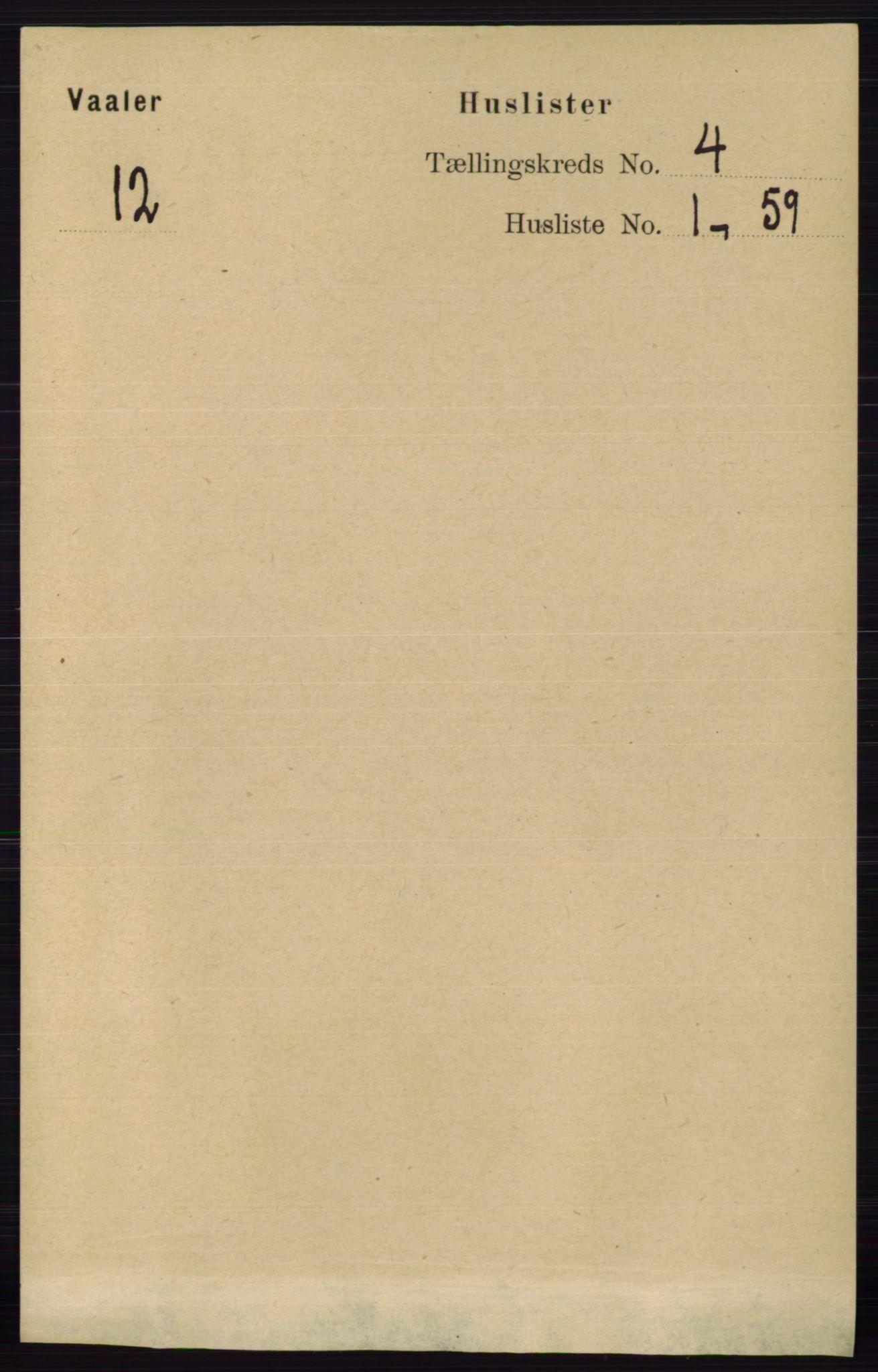RA, Folketelling 1891 for 0137 Våler herred, 1891, s. 1548