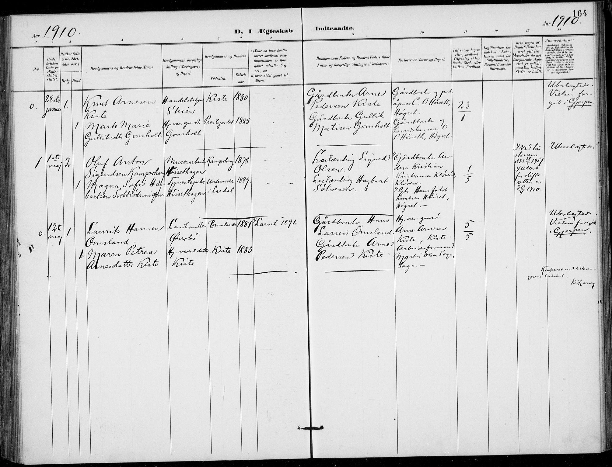SAKO, Siljan kirkebøker, F/Fa/L0003: Ministerialbok nr. 3, 1896-1910, s. 164