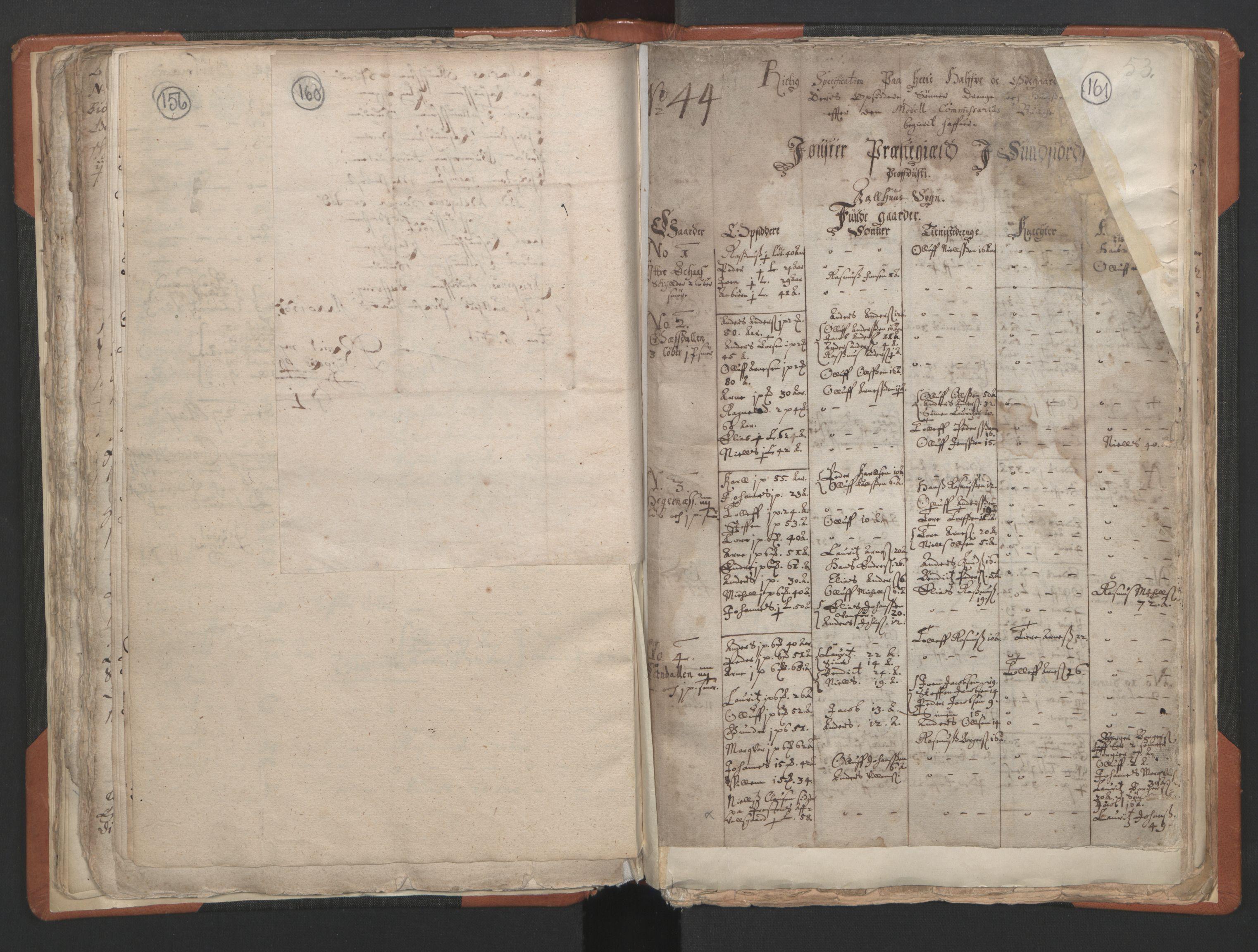 RA, Sogneprestenes manntall 1664-1666, nr. 24: Sunnfjord prosti, 1664-1666, s. 160-161