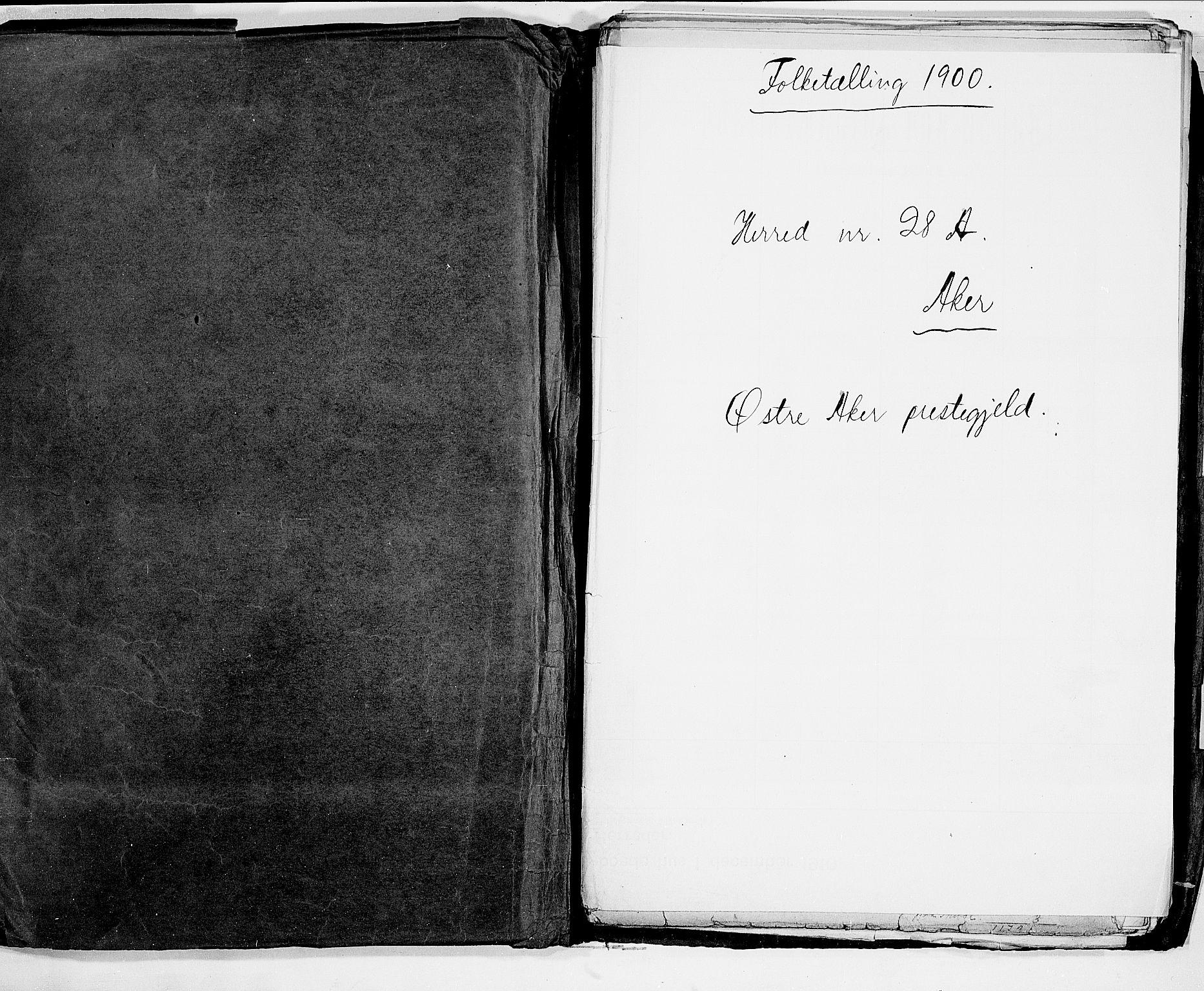 SAO, Folketelling 1900 for 0218 Aker herred, 1900, s. 2