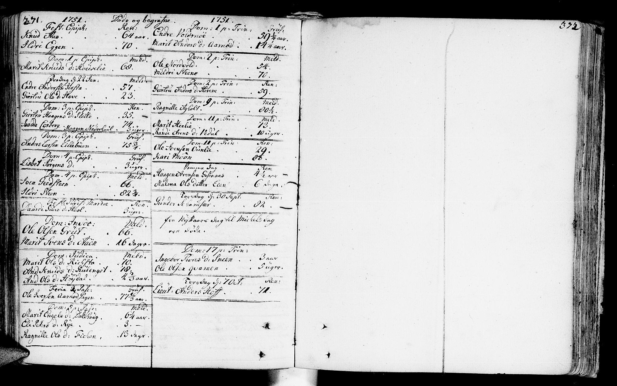 SAT, Ministerialprotokoller, klokkerbøker og fødselsregistre - Sør-Trøndelag, 672/L0850: Ministerialbok nr. 672A03, 1725-1751, s. 371-372