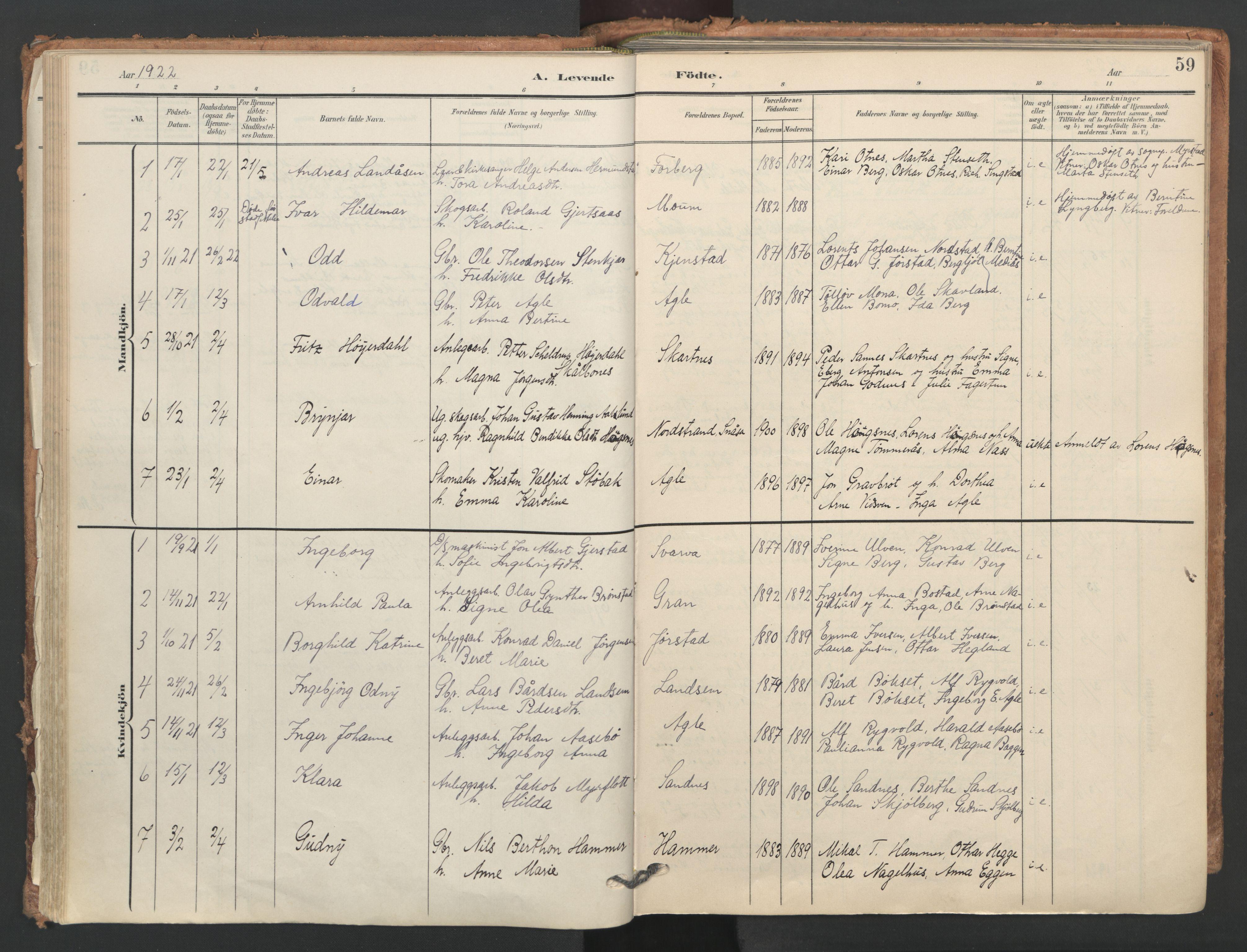 SAT, Ministerialprotokoller, klokkerbøker og fødselsregistre - Nord-Trøndelag, 749/L0477: Ministerialbok nr. 749A11, 1902-1927, s. 59