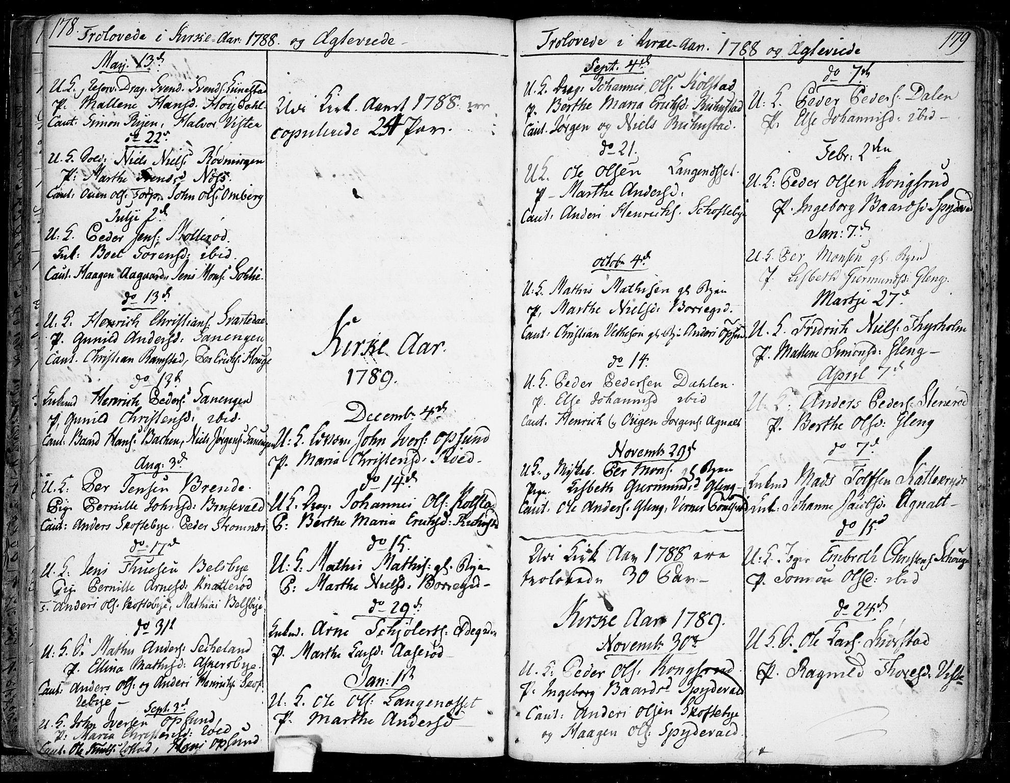 SAO, Tune prestekontor Kirkebøker, F/Fa/L0003: Ministerialbok nr. 3, 1781-1796, s. 178-179