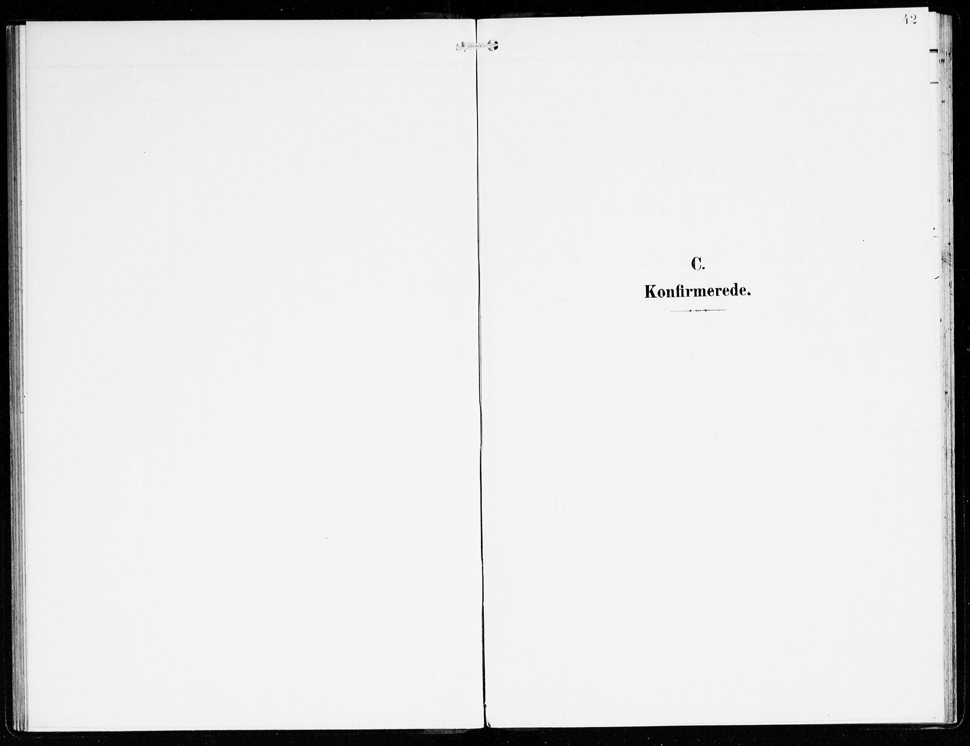 SAB, Hyllestad Sokneprestembete, Ministerialbok nr. C 2, 1904-1917, s. 42