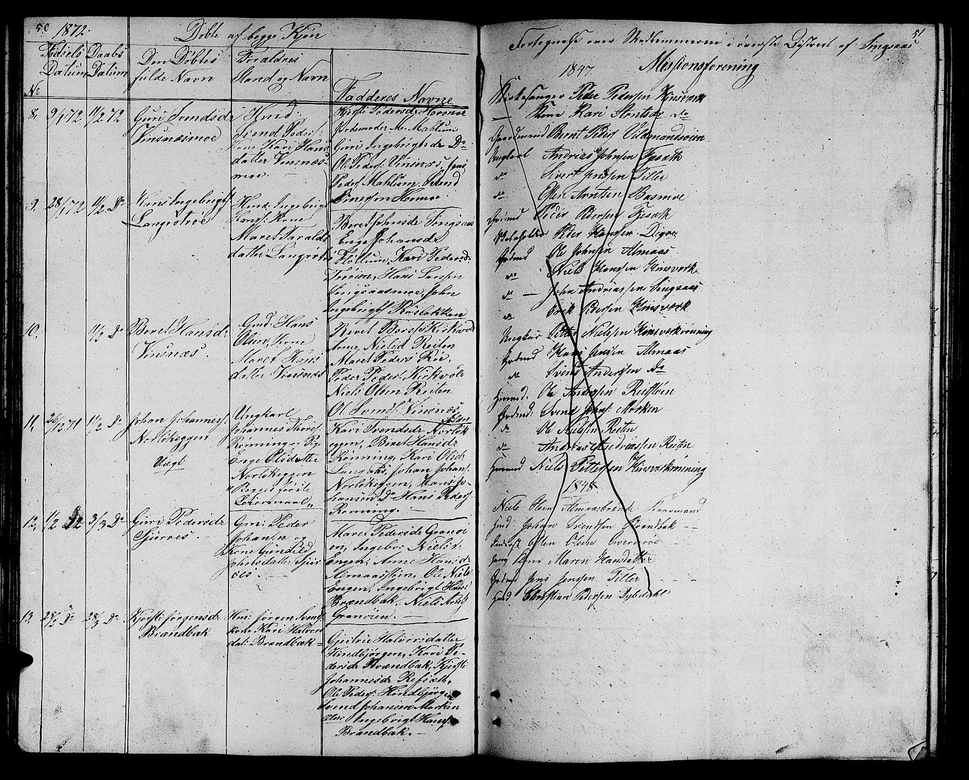 SAT, Ministerialprotokoller, klokkerbøker og fødselsregistre - Sør-Trøndelag, 688/L1027: Klokkerbok nr. 688C02, 1861-1889, s. 50-51