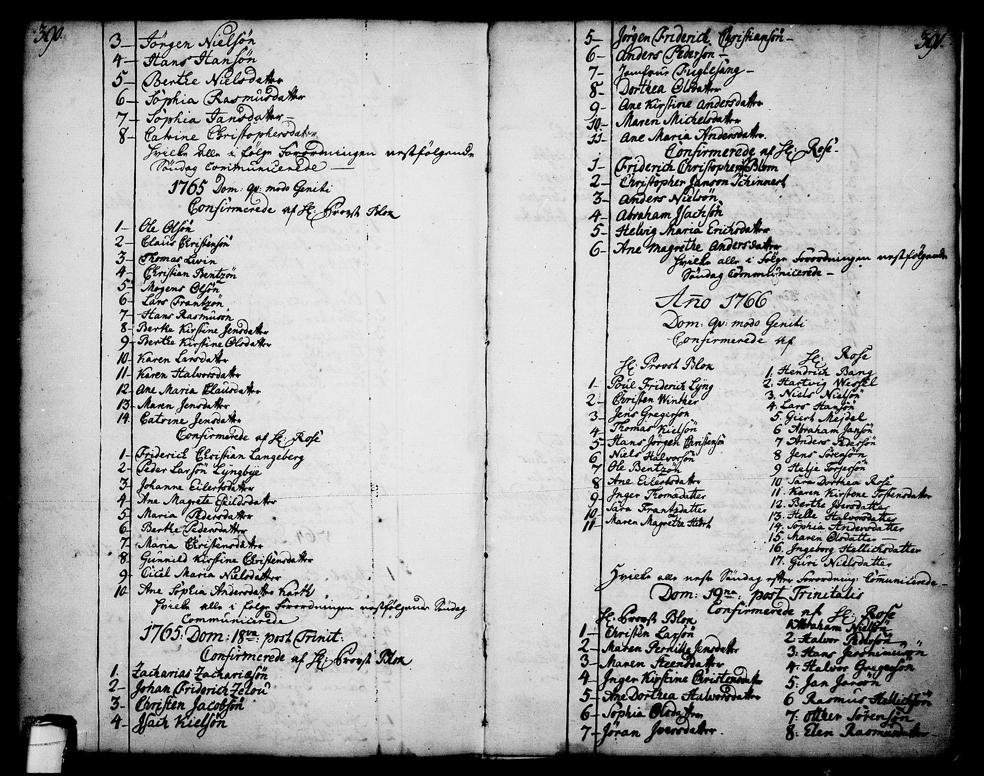 SAKO, Skien kirkebøker, F/Fa/L0003: Ministerialbok nr. 3, 1755-1791, s. 390-391
