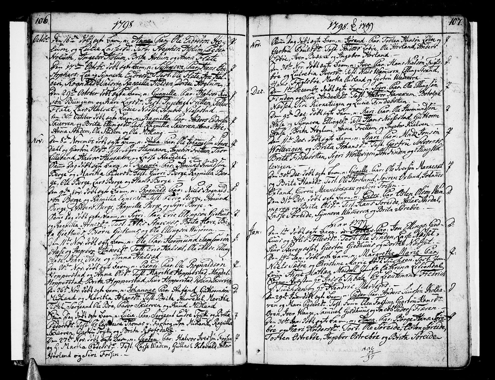 SAB, Vik Sokneprestembete, Ministerialbok nr. A 5, 1787-1820, s. 106-107