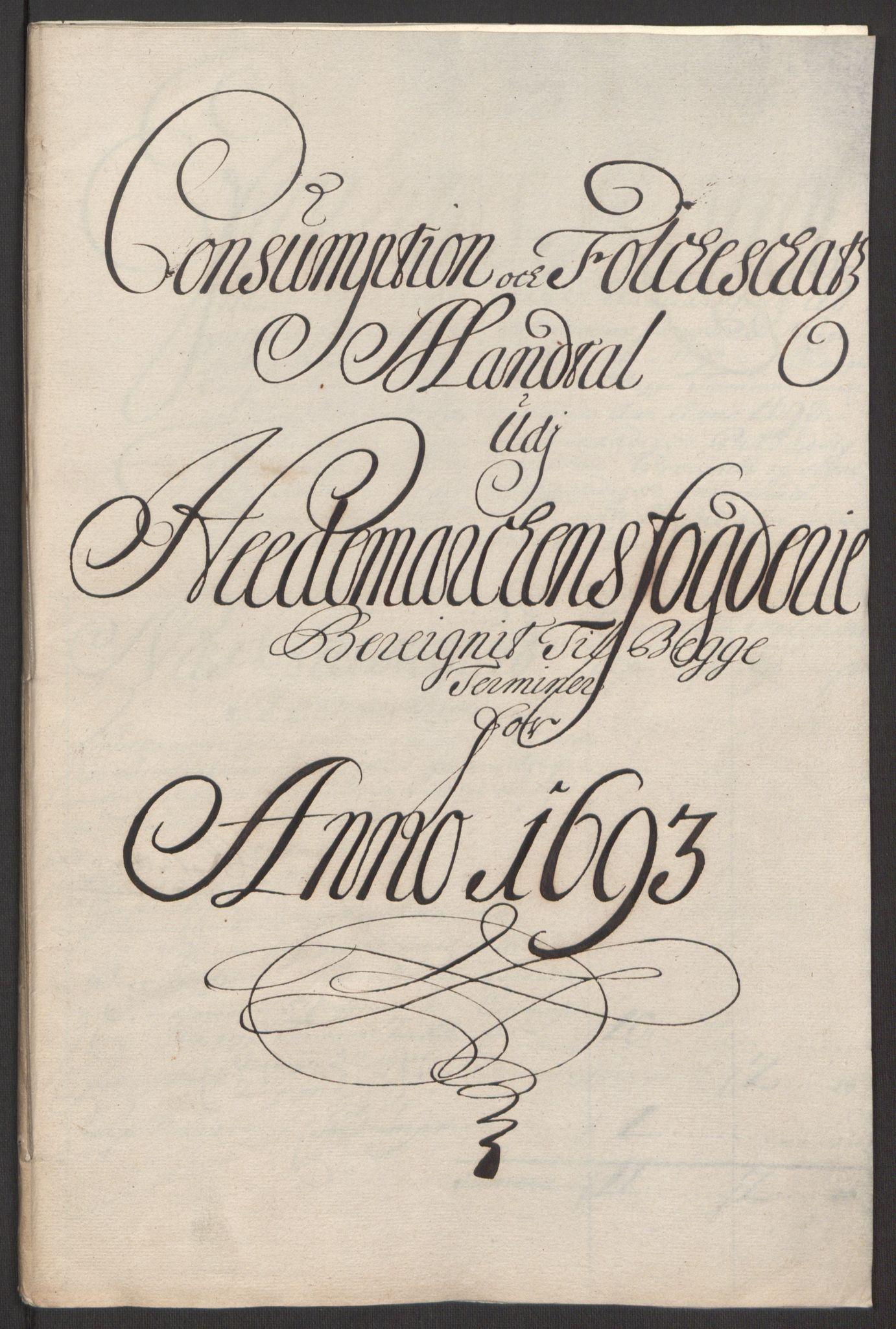 RA, Rentekammeret inntil 1814, Reviderte regnskaper, Fogderegnskap, R16/L1034: Fogderegnskap Hedmark, 1693, s. 98