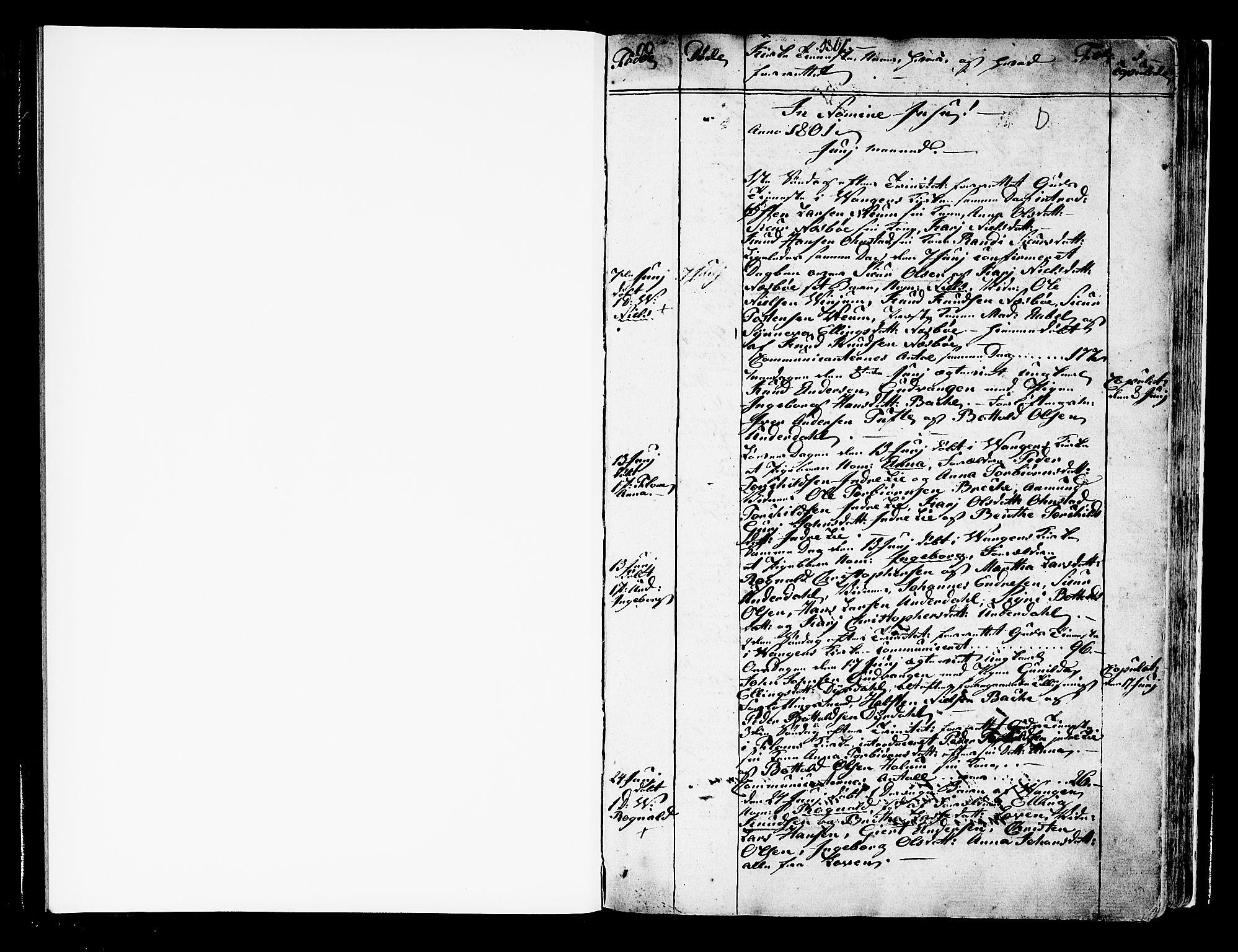 SAB, Aurland Sokneprestembete*, Ministerialbok nr. A 5, 1801-1821, s. 1