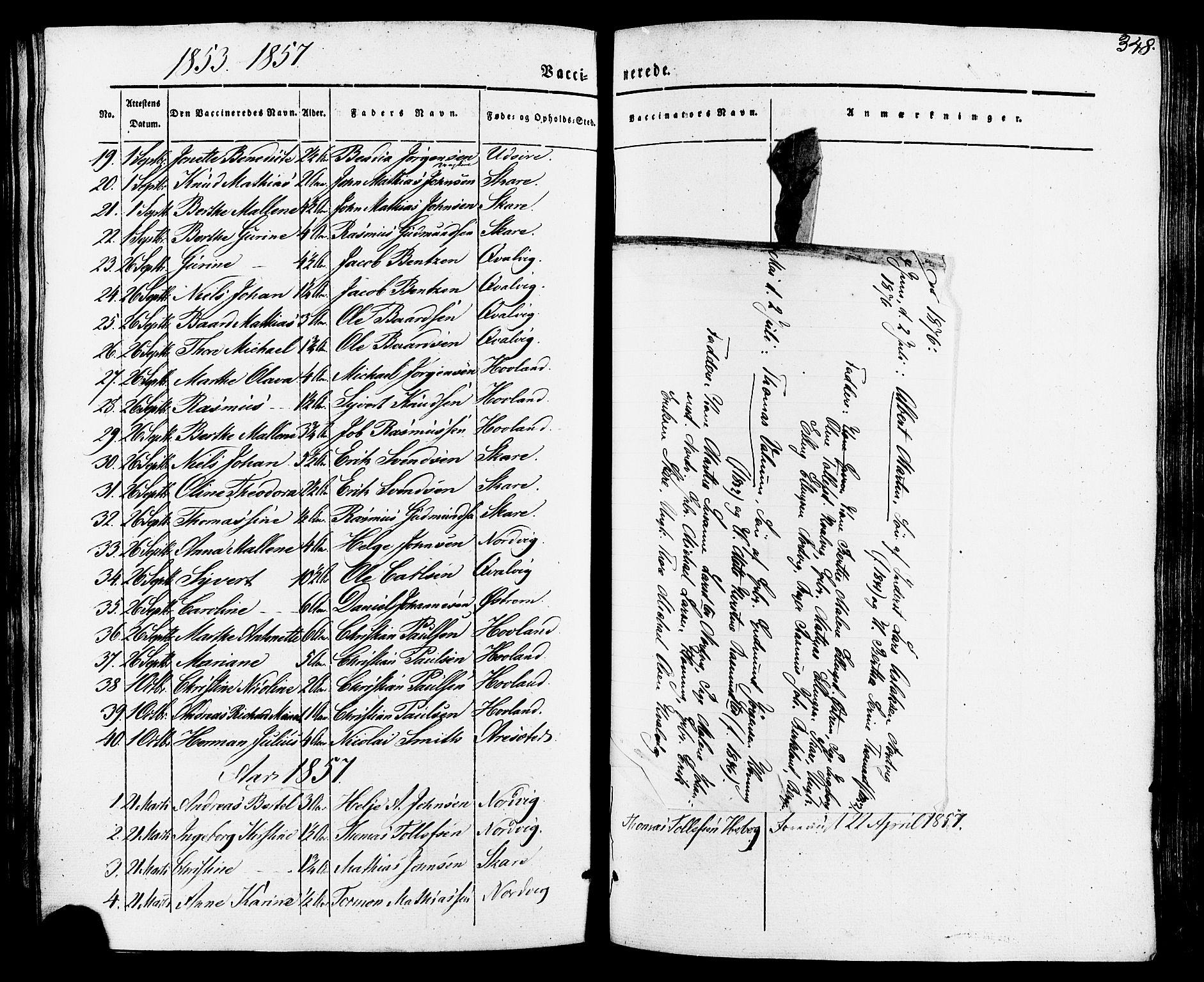 SAST, Torvastad sokneprestkontor, H/Ha/Haa/L0007: Ministerialbok nr. A 7, 1838-1882, s. 348