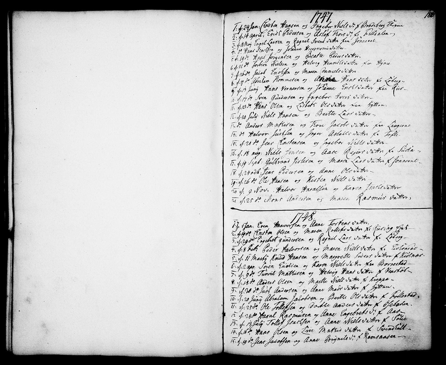 SAKO, Gjerpen kirkebøker, F/Fa/L0002: Ministerialbok nr. 2, 1747-1795, s. 186
