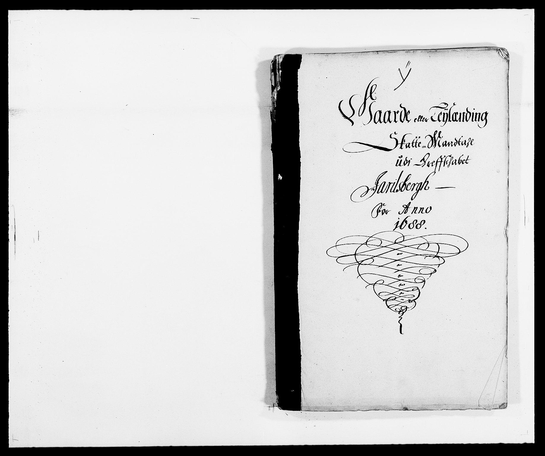 RA, Rentekammeret inntil 1814, Reviderte regnskaper, Fogderegnskap, R32/L1859: Fogderegnskap Jarlsberg grevskap, 1686-1690, s. 1