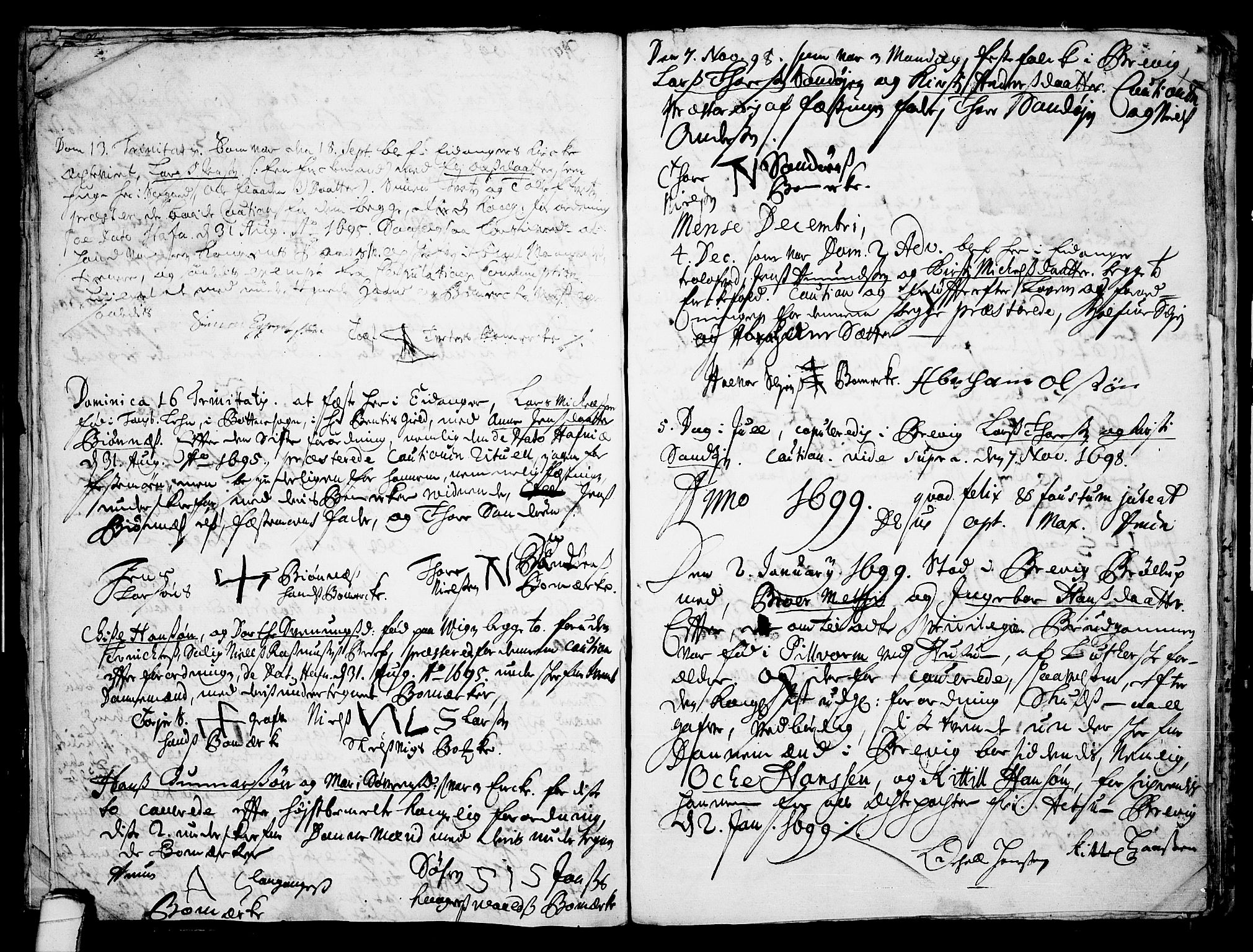 SAKO, Eidanger kirkebøker, F/Fa/L0001: Ministerialbok nr. 1, 1695-1717, s. 14