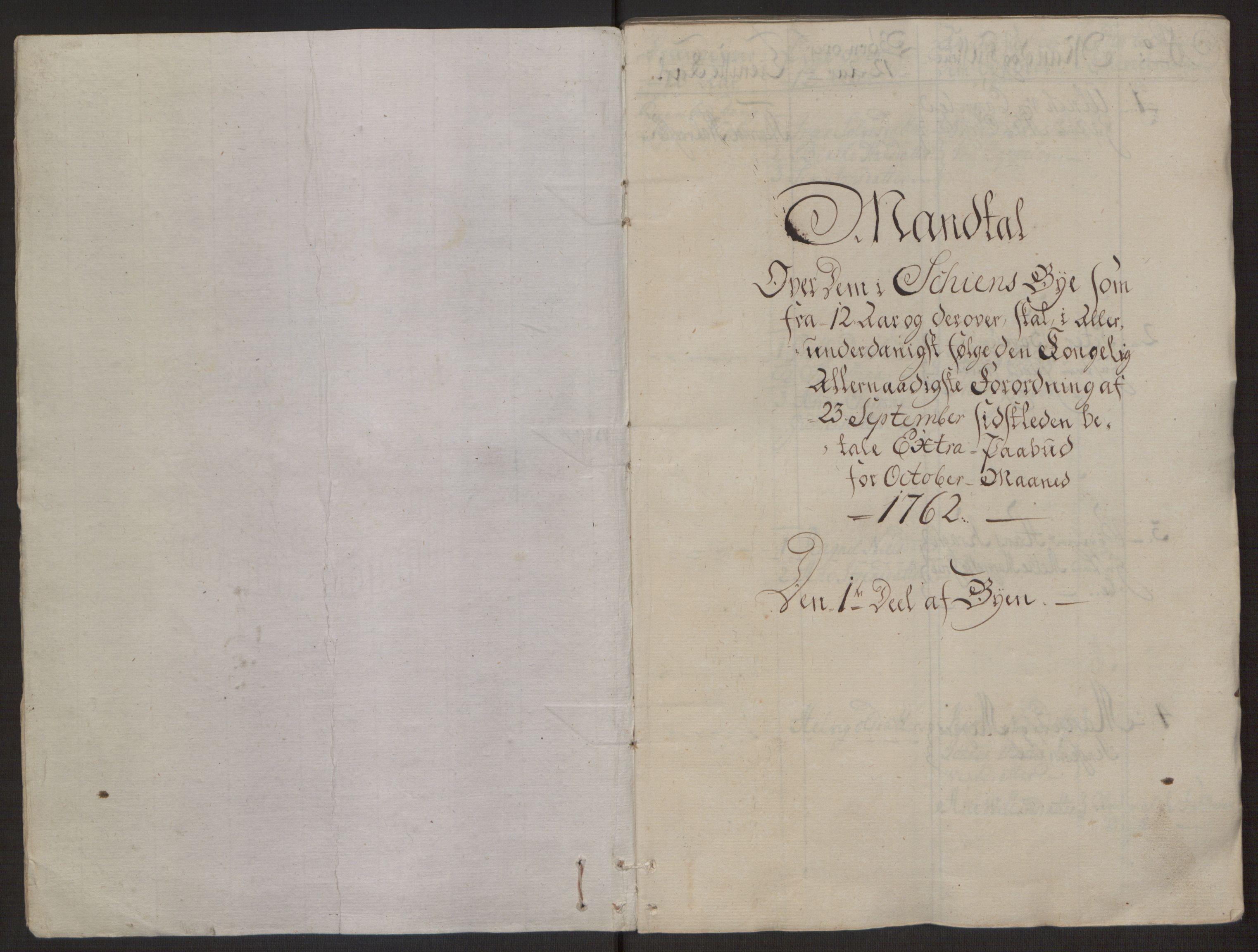 RA, Rentekammeret inntil 1814, Reviderte regnskaper, Byregnskaper, R/Rj/L0198: [J4] Kontribusjonsregnskap, 1762-1768, s. 11