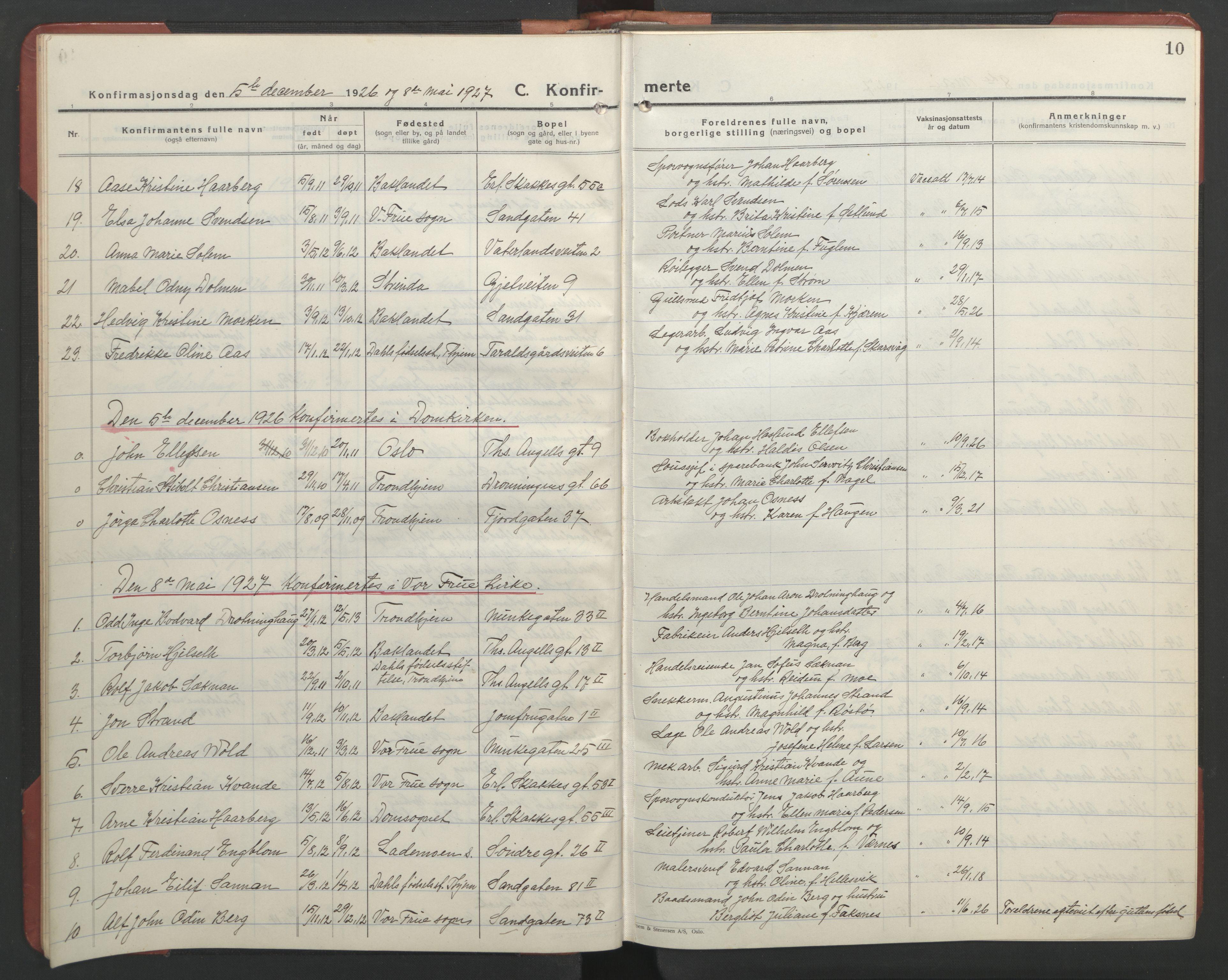 SAT, Ministerialprotokoller, klokkerbøker og fødselsregistre - Sør-Trøndelag, 602/L0151: Klokkerbok nr. 602C19, 1925-1951, s. 10