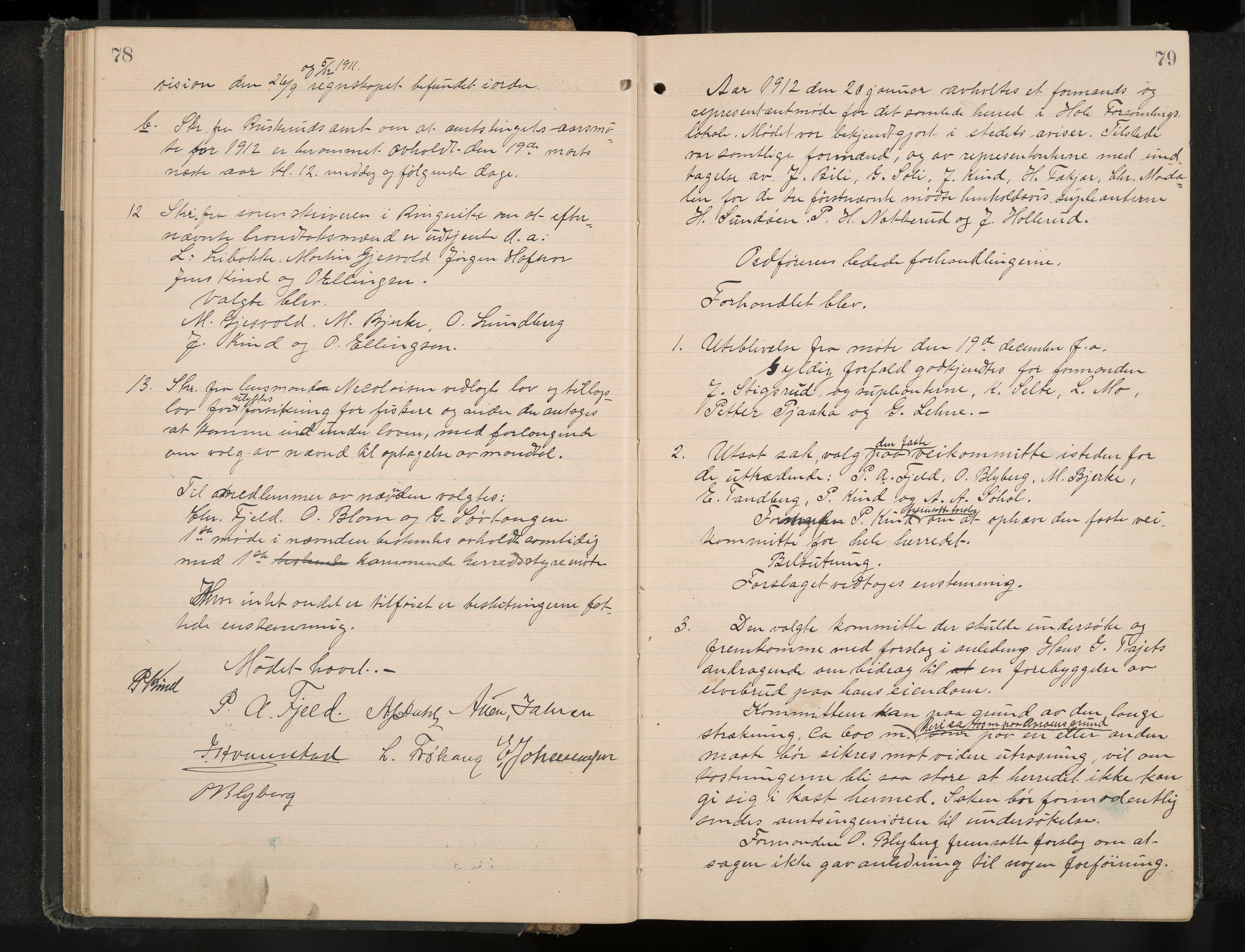 IKAK, Hole formannskap og sentraladministrasjon, A/Aa/L0006: Møtebok, 1911-1916, s. 78-79